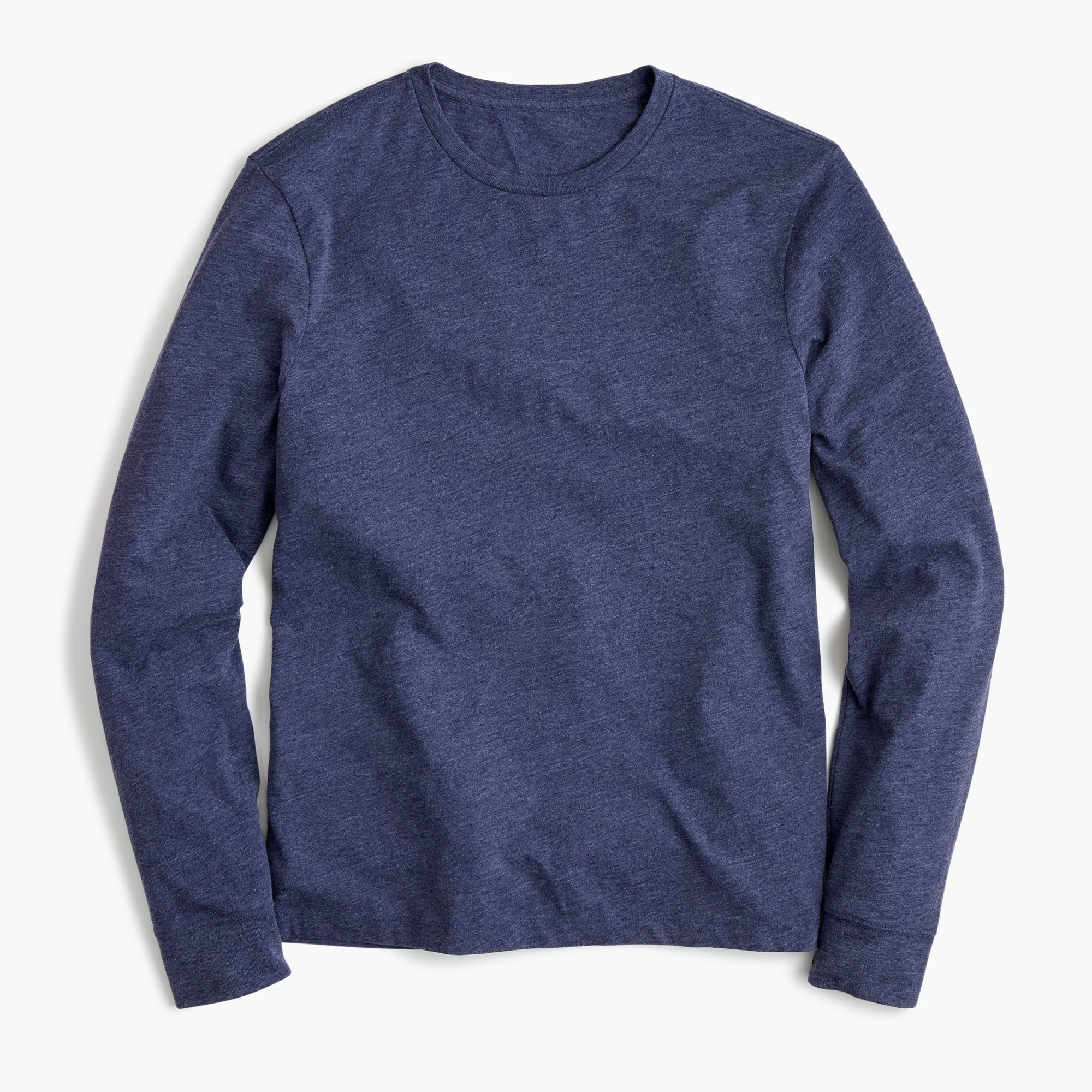 J.Crew Mercantile Broken-in long-sleeve T-shirt in heather navy men t-shirts & polos c