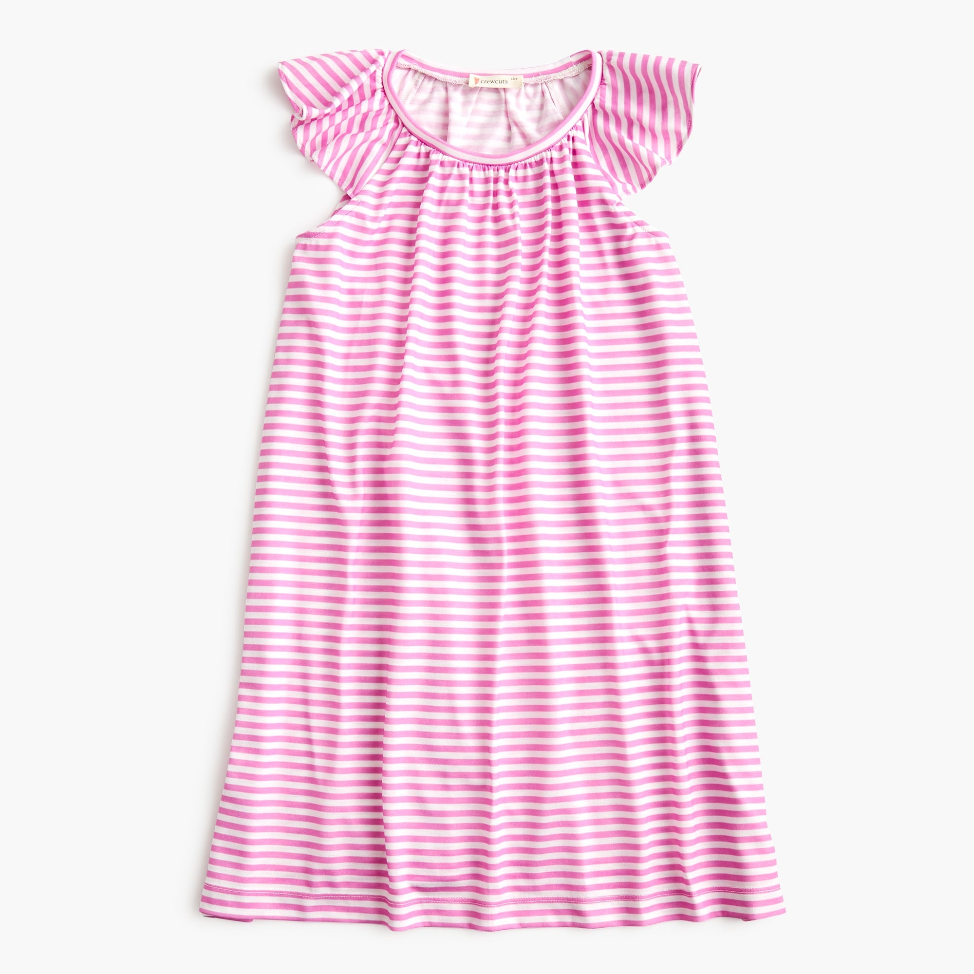 girls Girls' flutter-sleeve nightgown in stripes