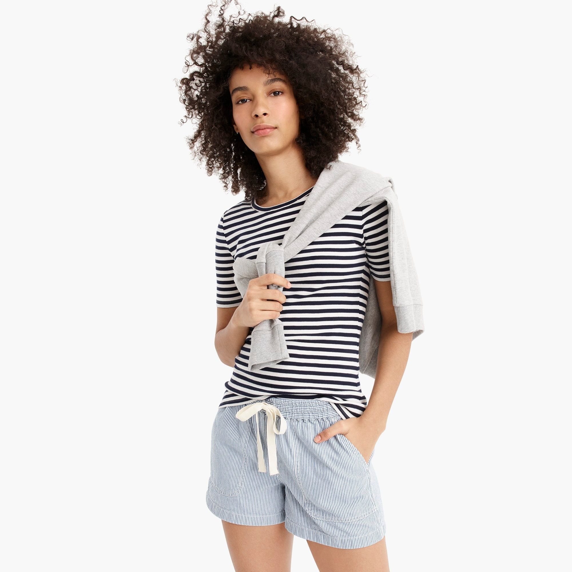 Point Sur seaside short in stripe women j.crew in good company c