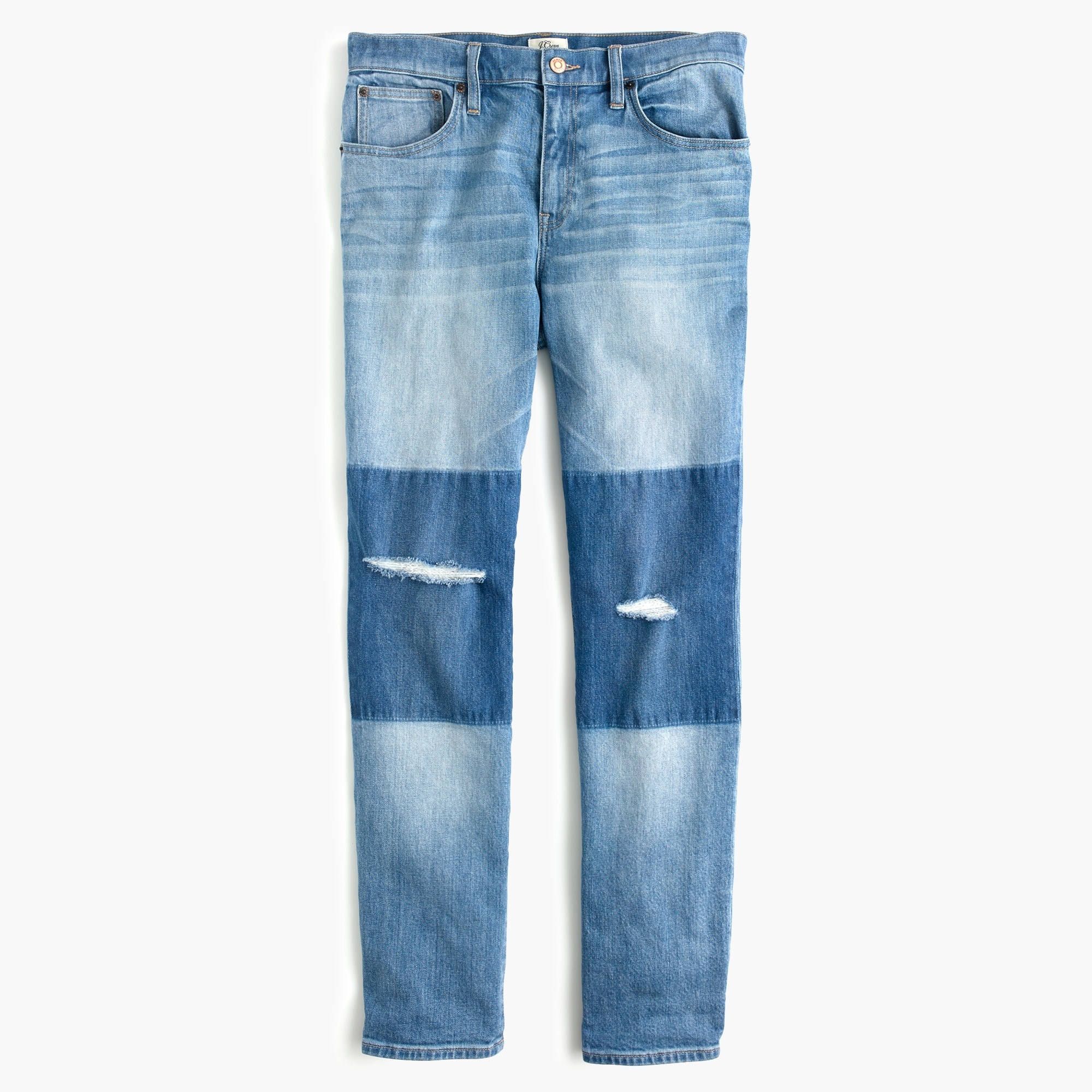 Image 6 for Tall Slim boyfriend jean with shadow patches