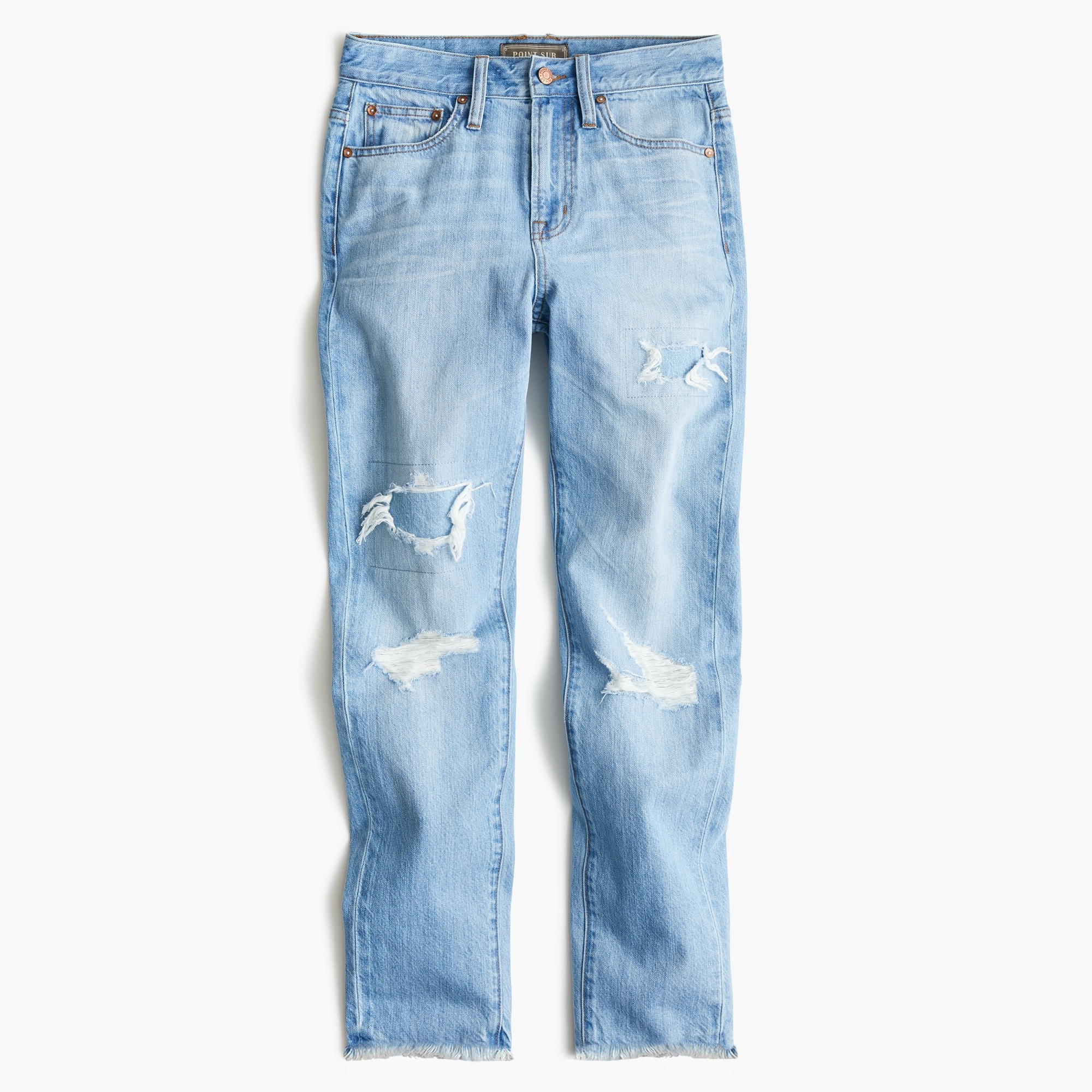 Image 2 for Tall Point Sur high-rise retro straight jean in light wash
