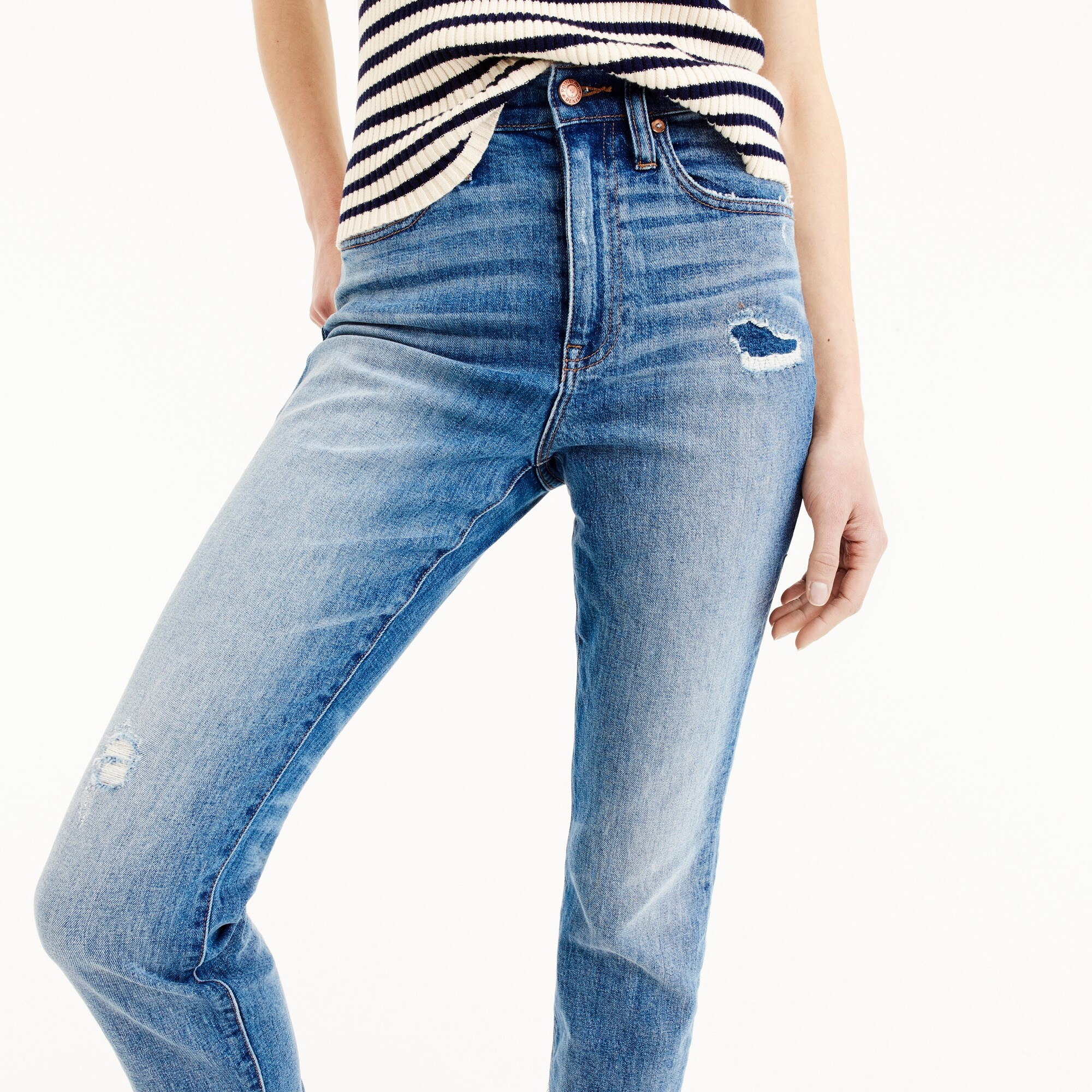Tall Point Sur high-rise boyfriend jean with uneven hems