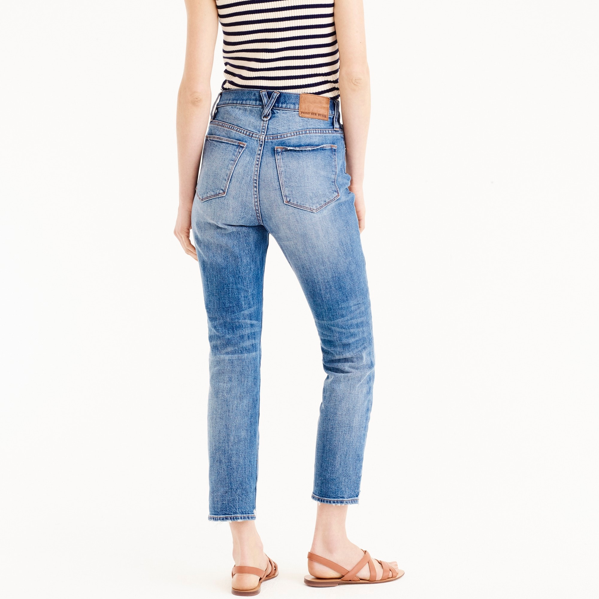 Image 4 for Point Sur high-rise boyfriend jean with uneven hems