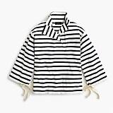 Striped snap-neck knit popover
