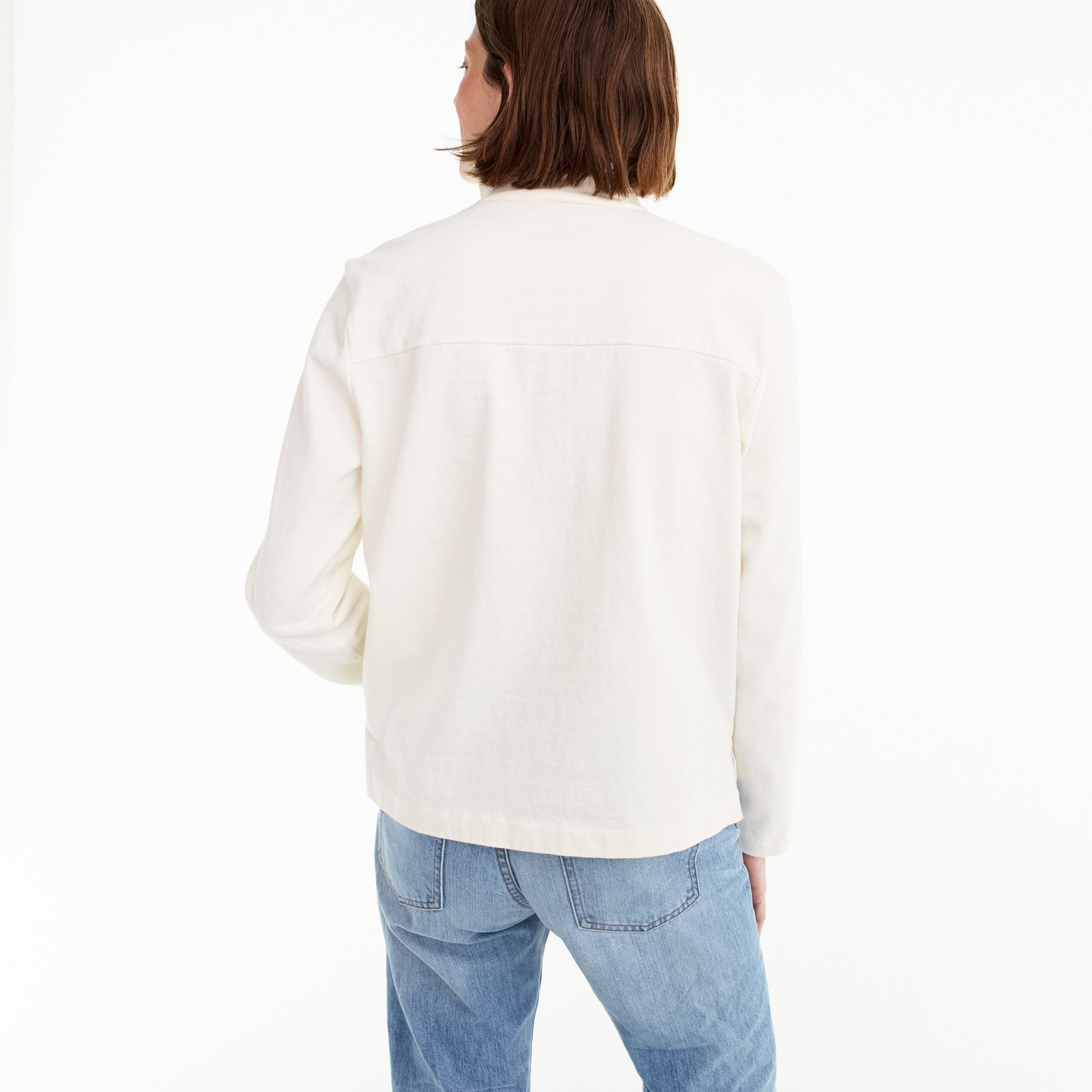 Image 4 for Button-shoulder turtleneck
