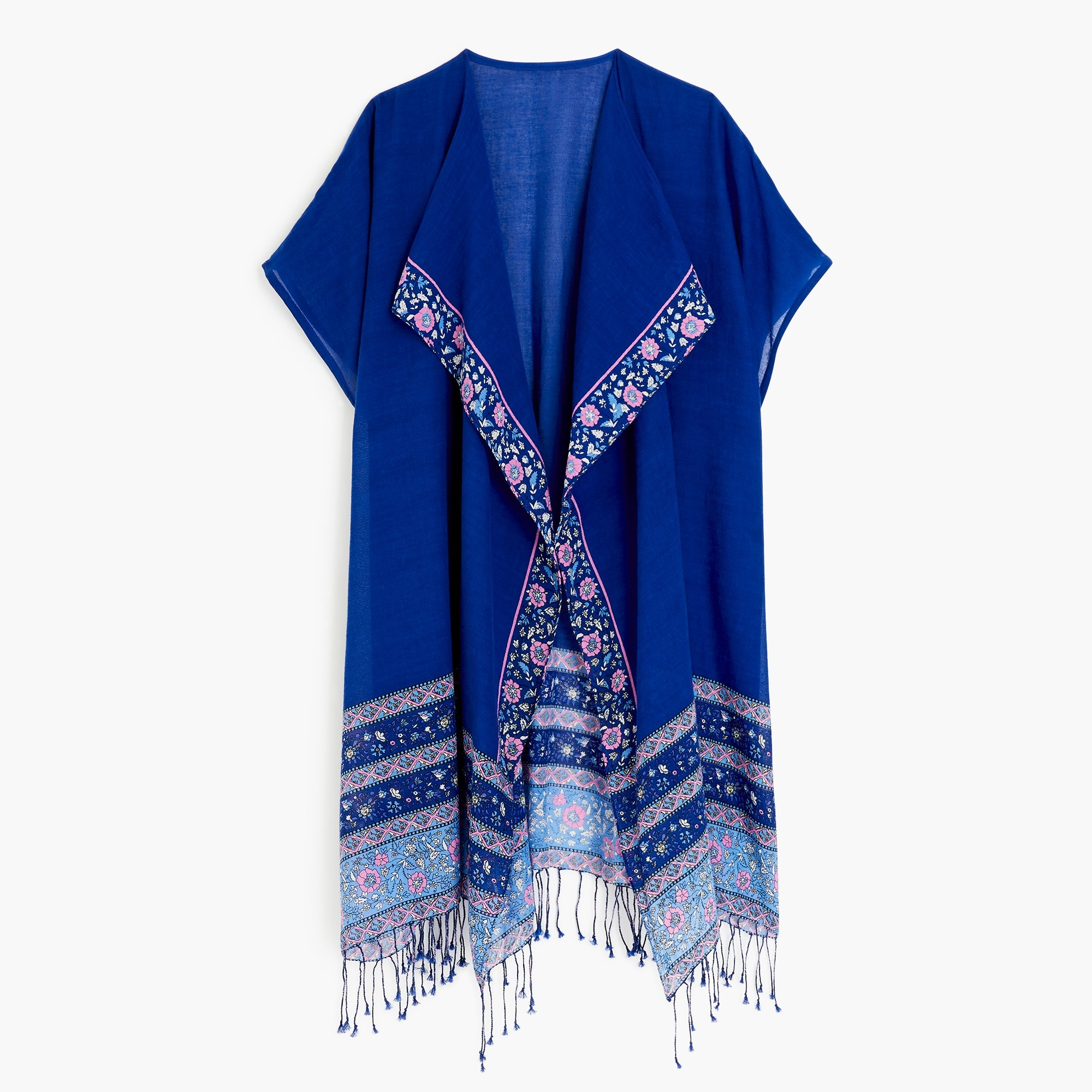 Flower border beach poncho