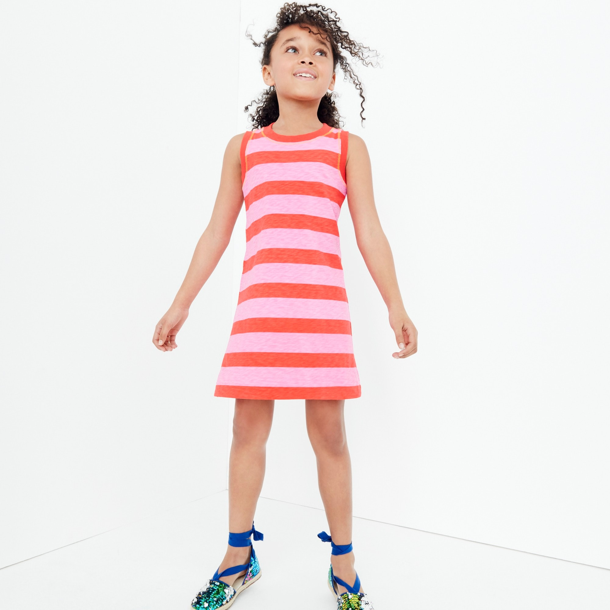 Girls' tank dress in rugby stripes girl new arrivals c
