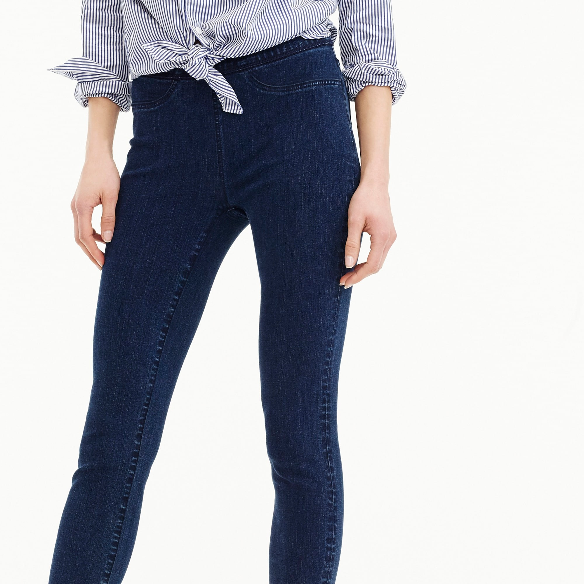 womens Tall Pull-on toothpick jean in indigo