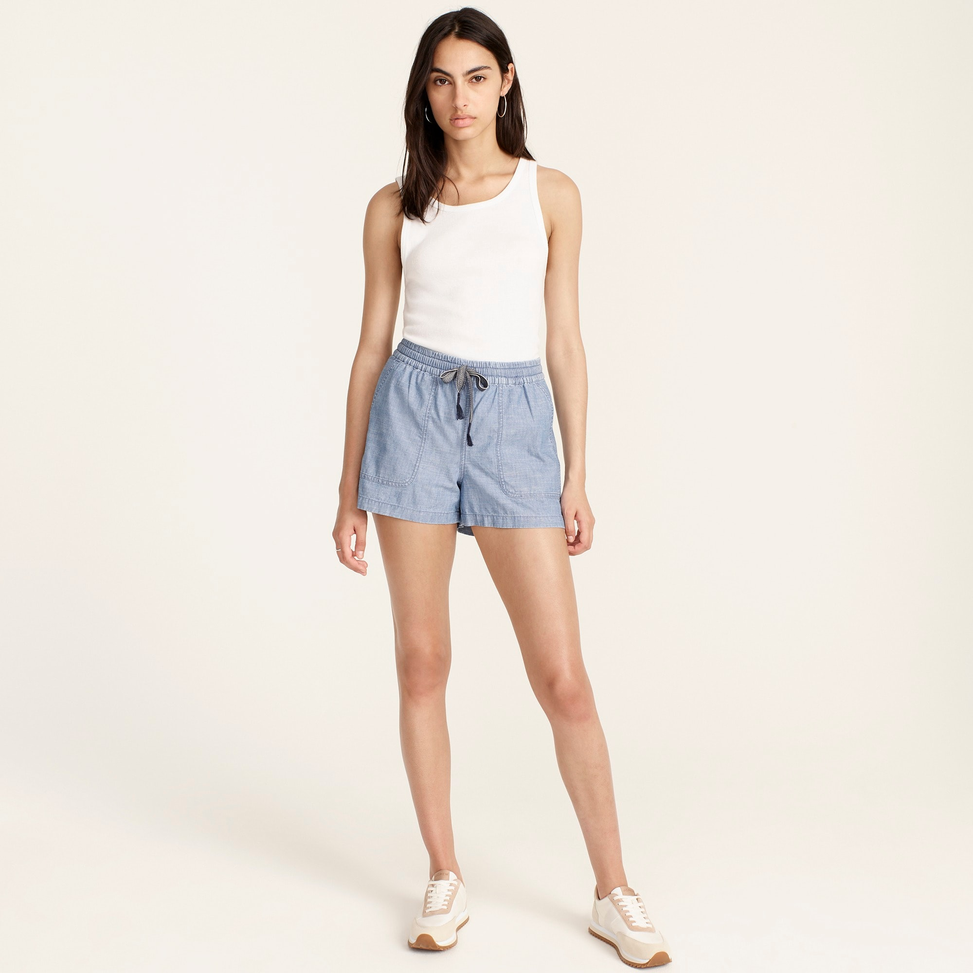 womens Point Sur seaside short in chambray