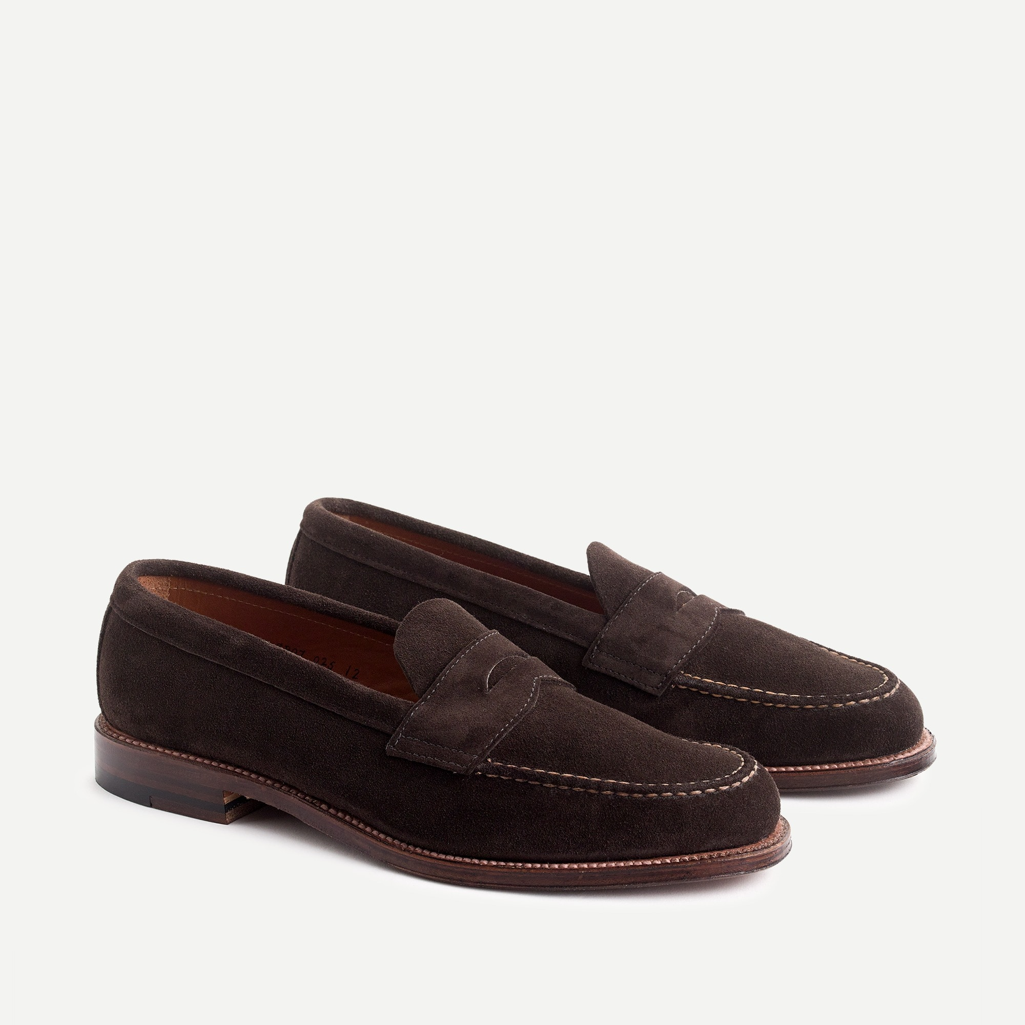 mens Alden® for J.Crew penny loafers in suede