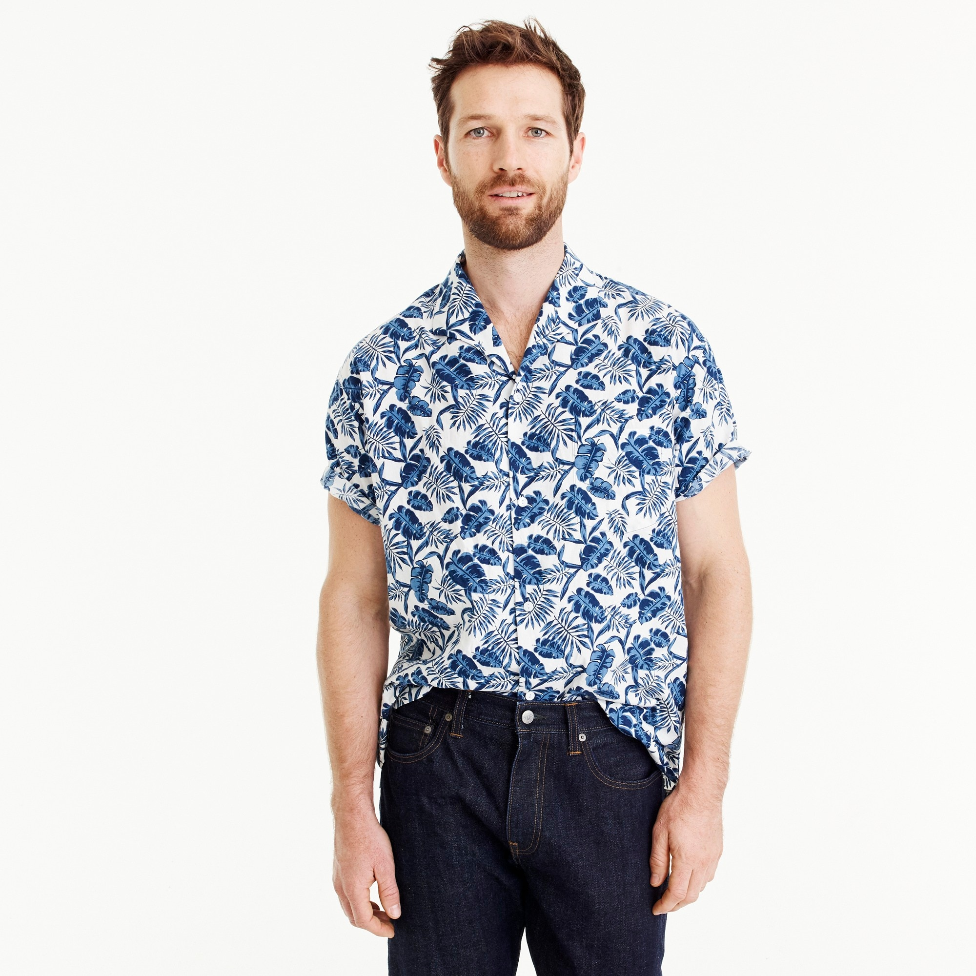 Shuttle Notes® two-pocket camp-collar shirt men j.crew in good company c