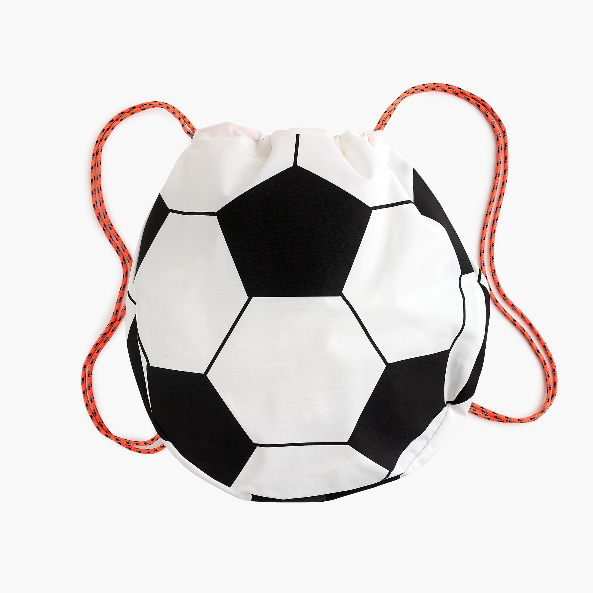 Kids' soccer ball-shaped drawstring backpack boy accessories c