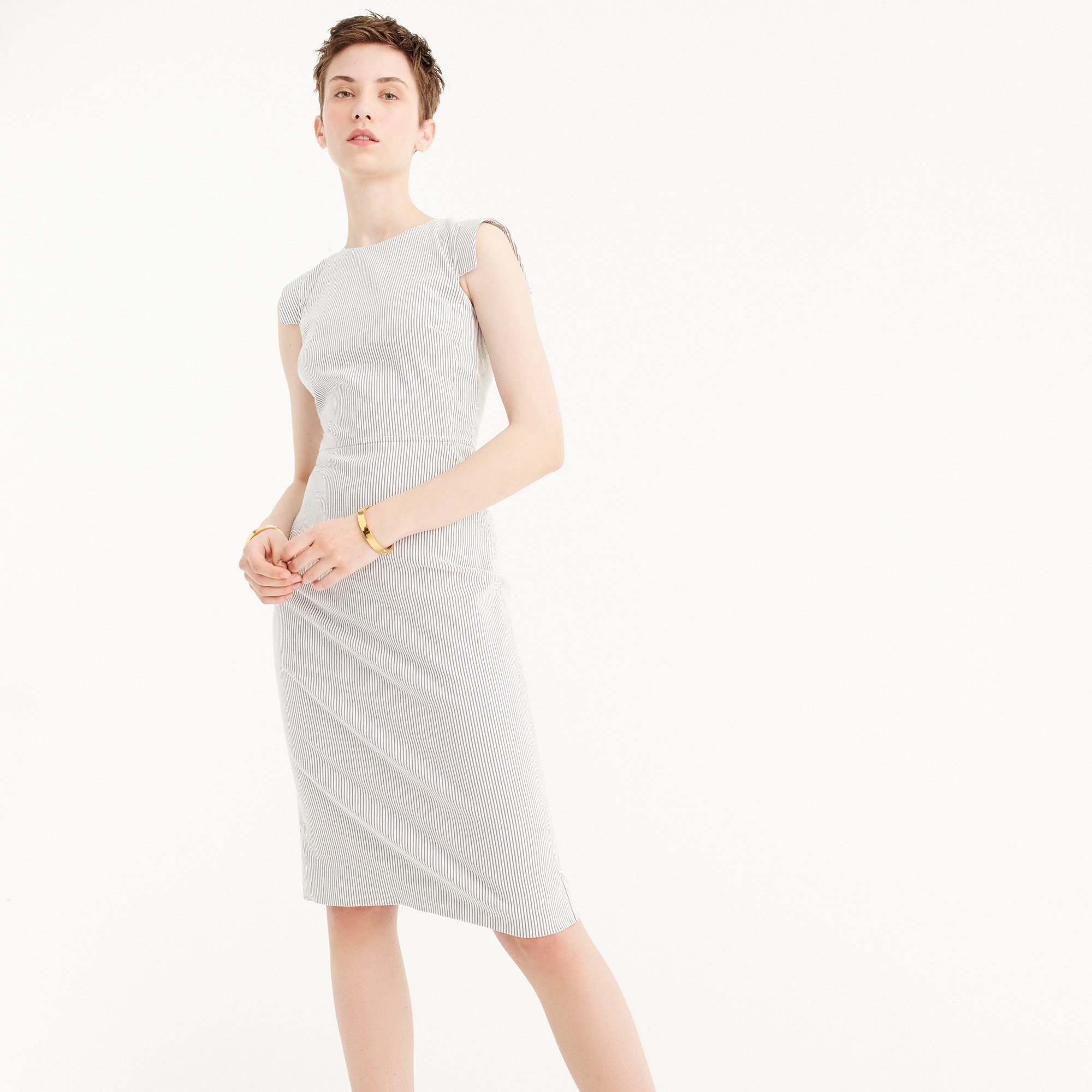 Résumé dress in seersucker women suiting c
