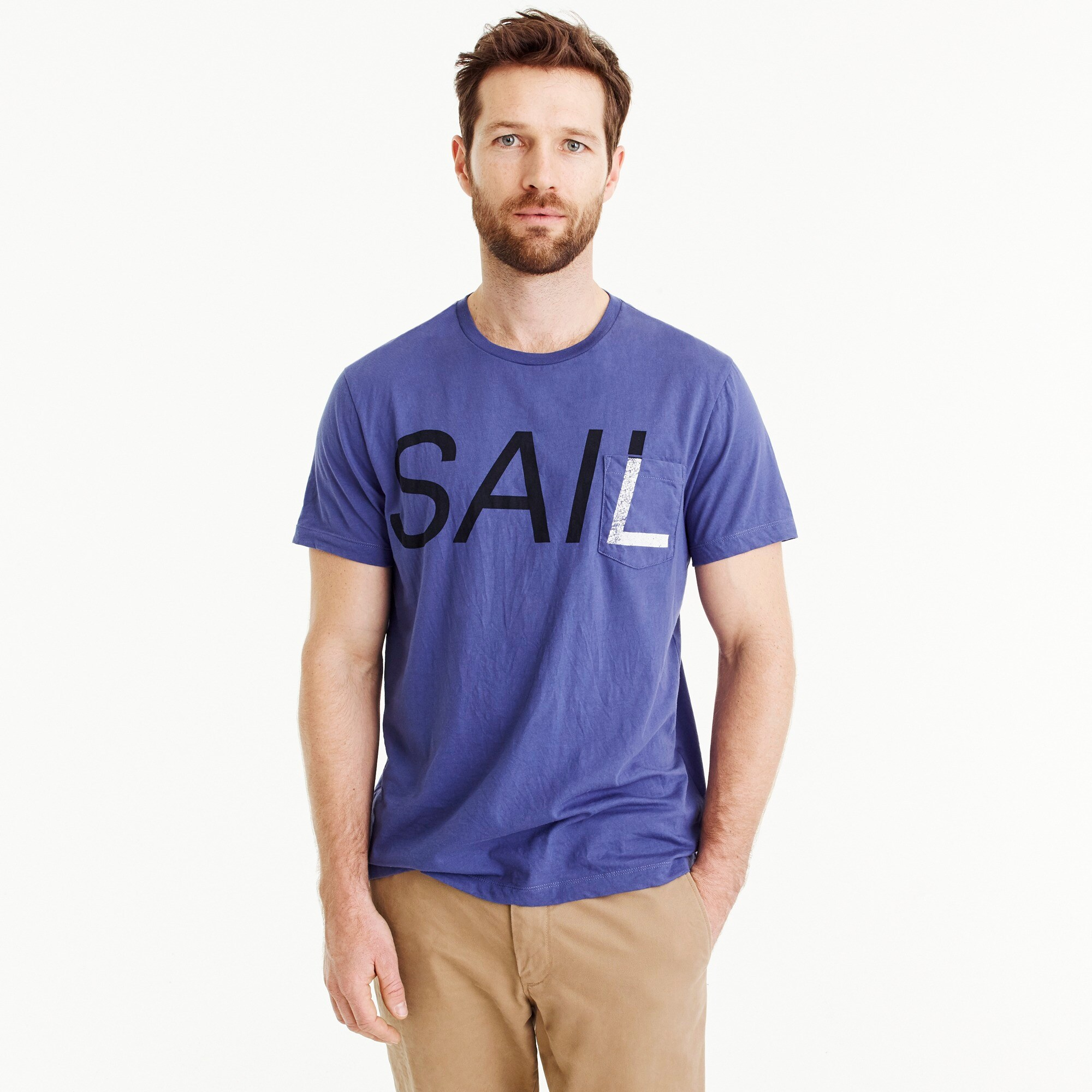 Image 1 for Tall J.Crew Mercantile Broken-in T-shirt in sail graphic