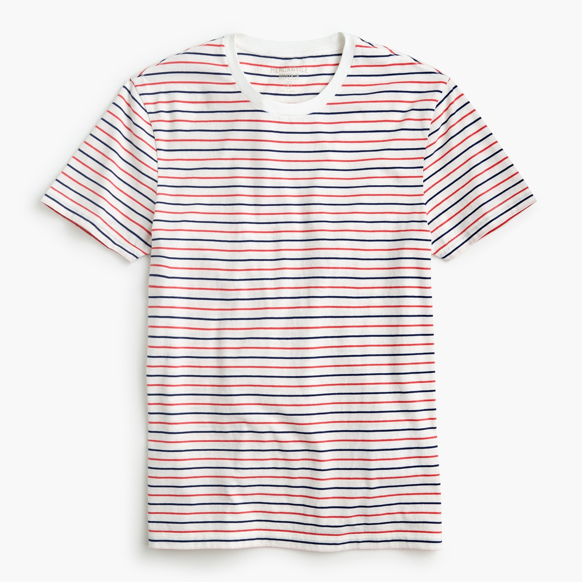 Tall J.Crew Mercantile Broken-in T-shirt in seaside stripe