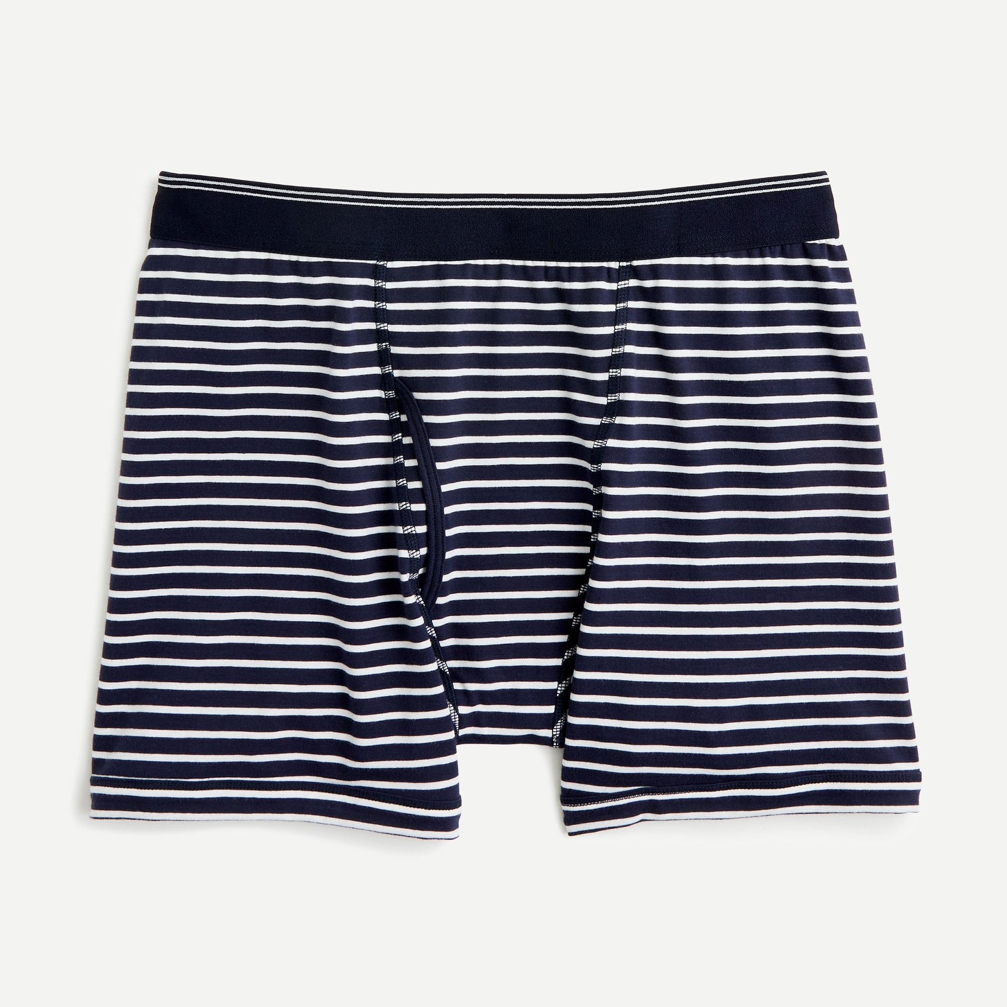 mens Stretch navy striped boxer briefs