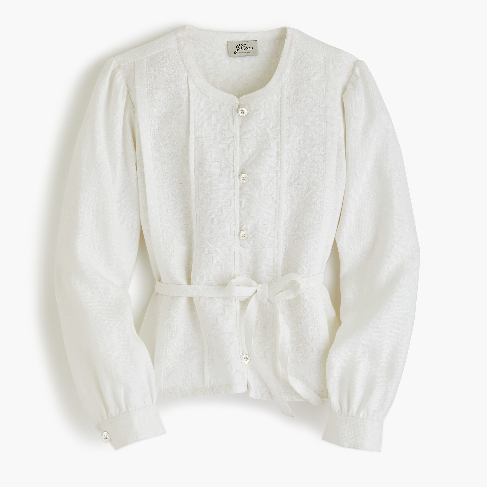 women's linen embroidered jacket - women's blazers