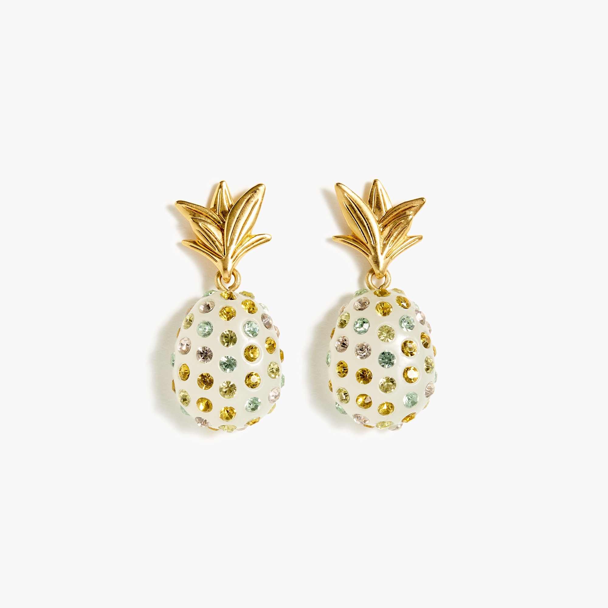 Sparkly pineapple earrings