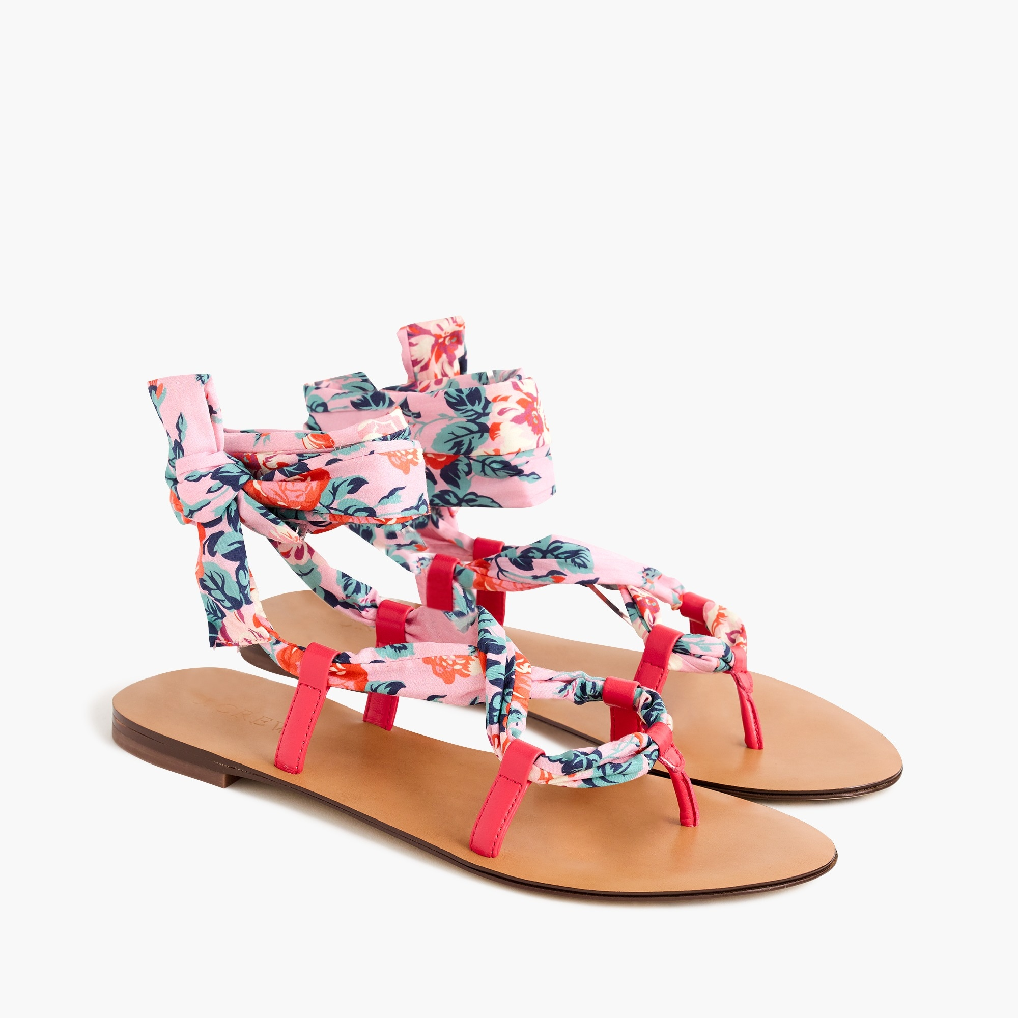 Wrap-around sandals in Liberty® floral women j.crew in good company c