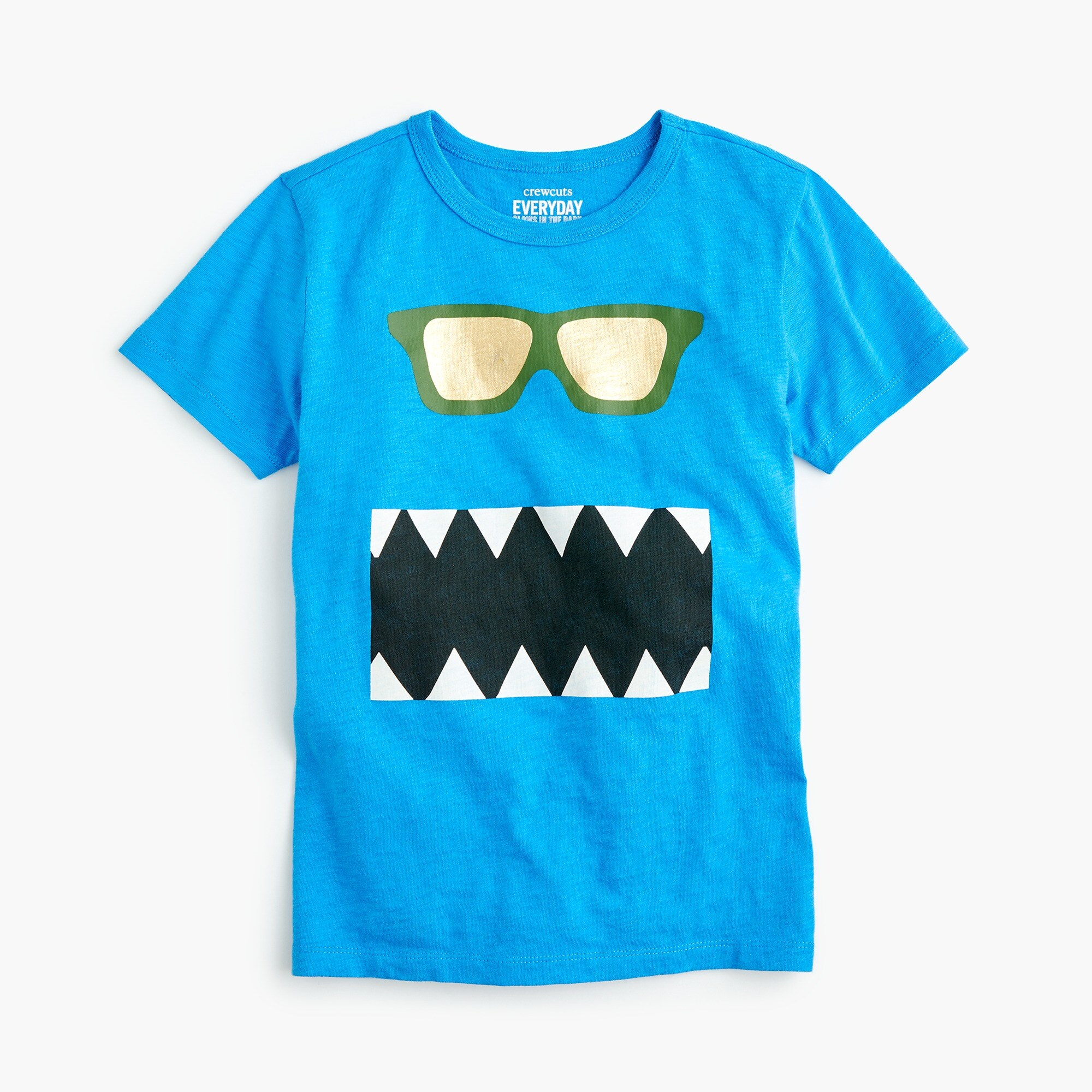 Boys' glow-in-the-dark snaggletooth monster T-shirt boy new arrivals c