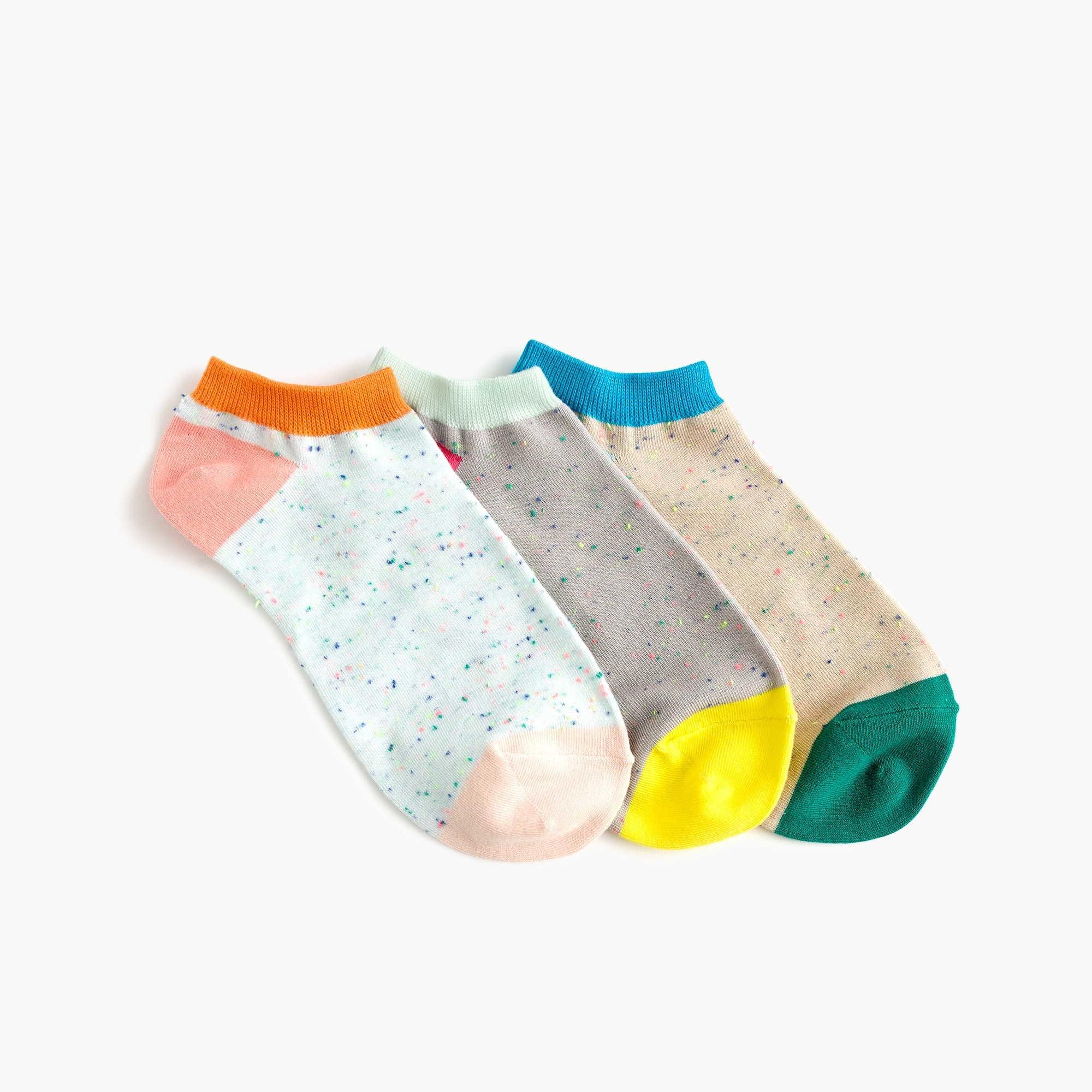 women's ankle socks three-pack in donegal colorblock - women's socks