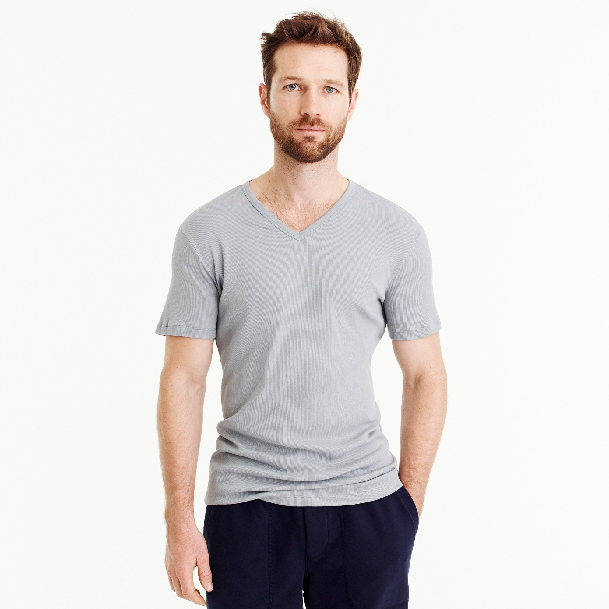 mens Mack Weldon® for J.Crew Prime Cotton V-neck undershirt