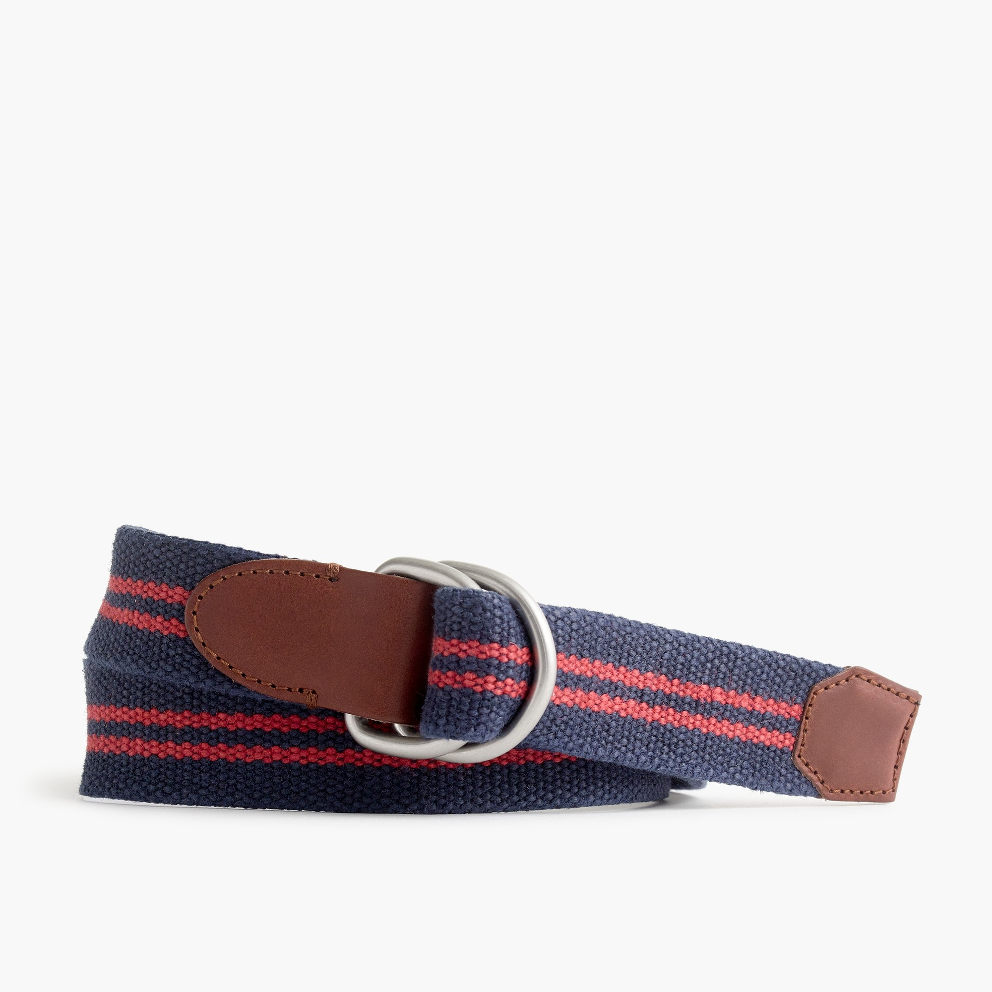 mens Cotton belt in double stripe