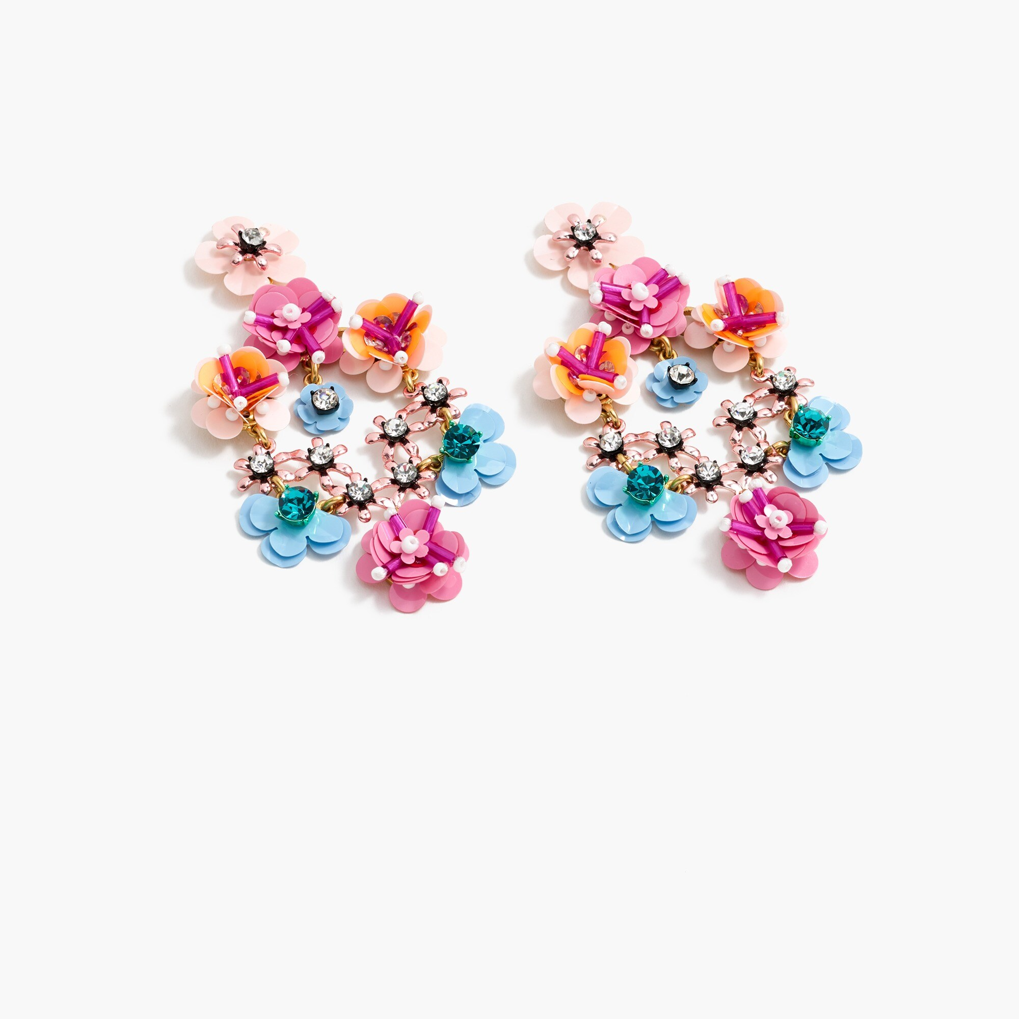 Stone and blossom earrings women jewelry c