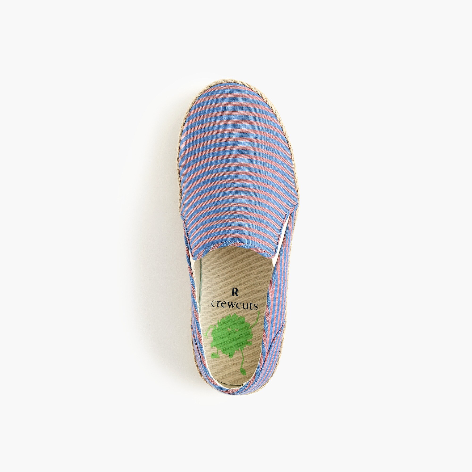 Image 2 for Kids' canvas espadrille slip-ons in stripes
