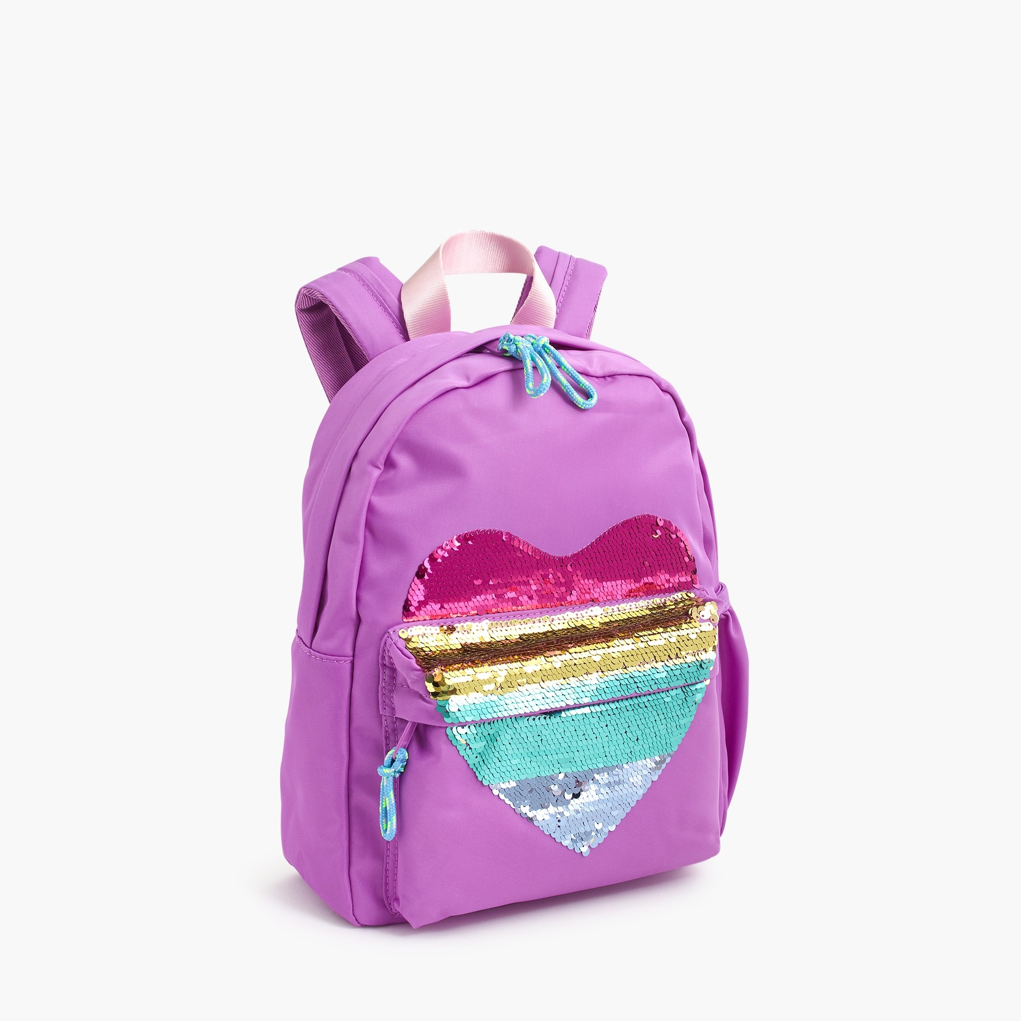 girls Girls' mini backpack with reversible-sequin heart