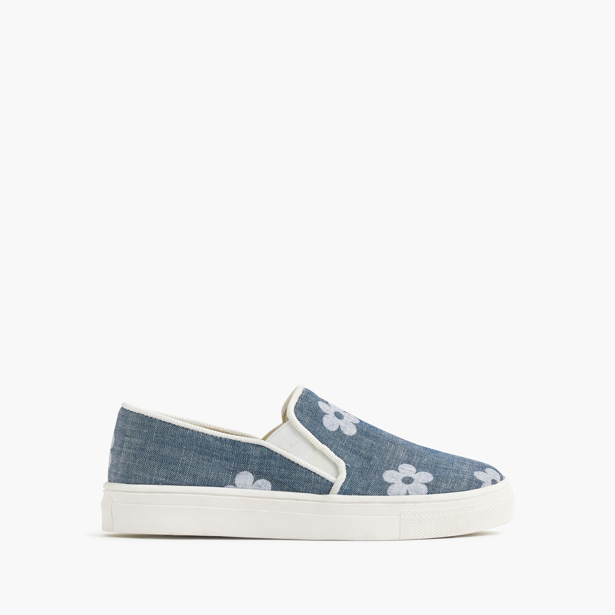 Image 1 for Girls' daisy slip-on sneakers