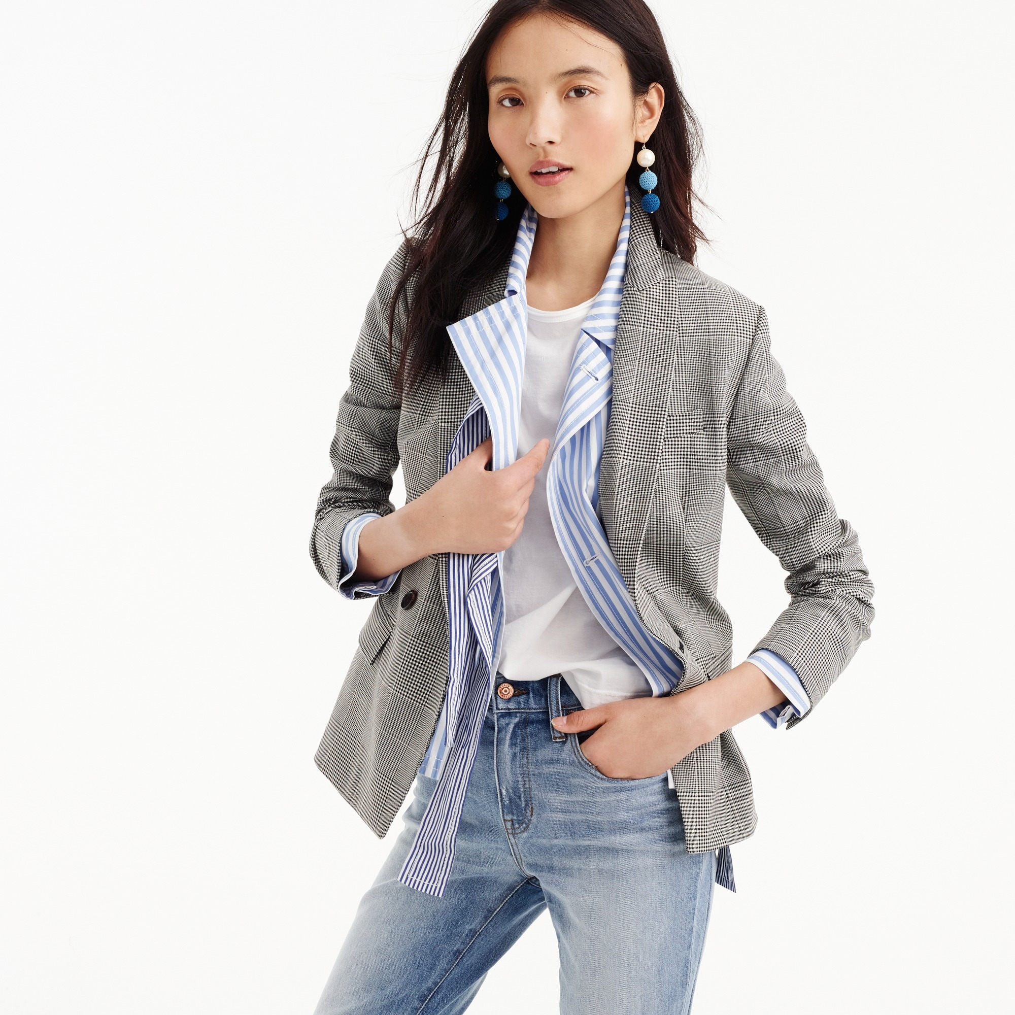 women's dover blazer in glen plaid - women's blazers