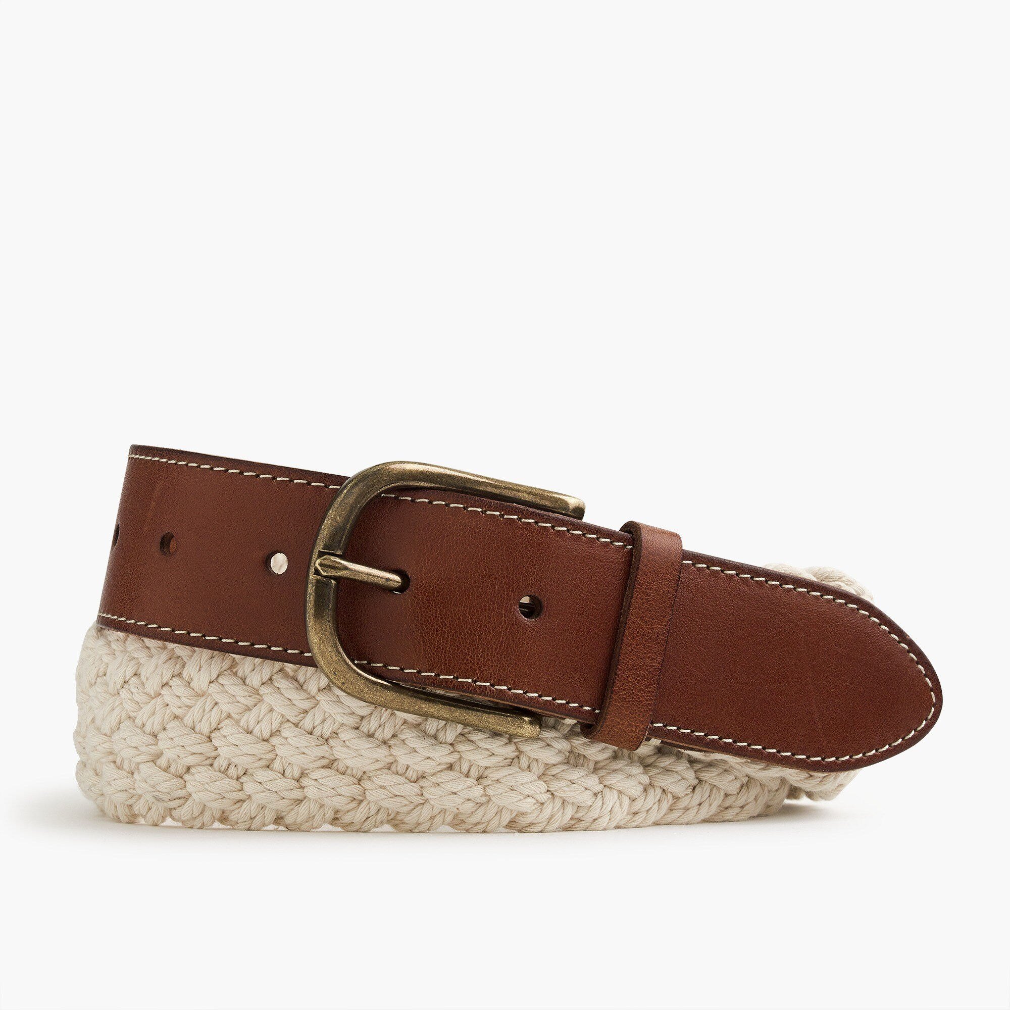 Braided cotton belt in sand
