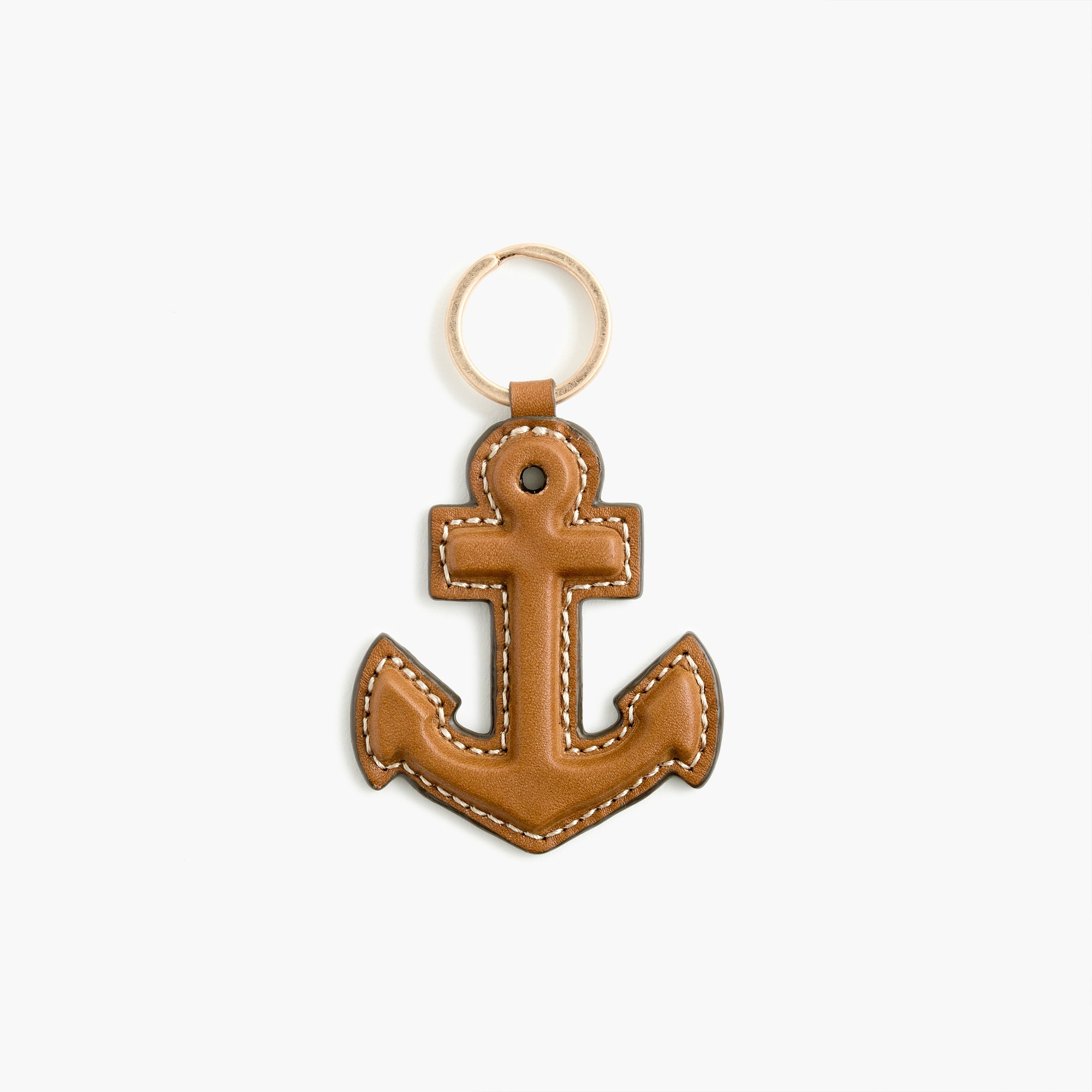 Anchor key chain in leather men accessories c
