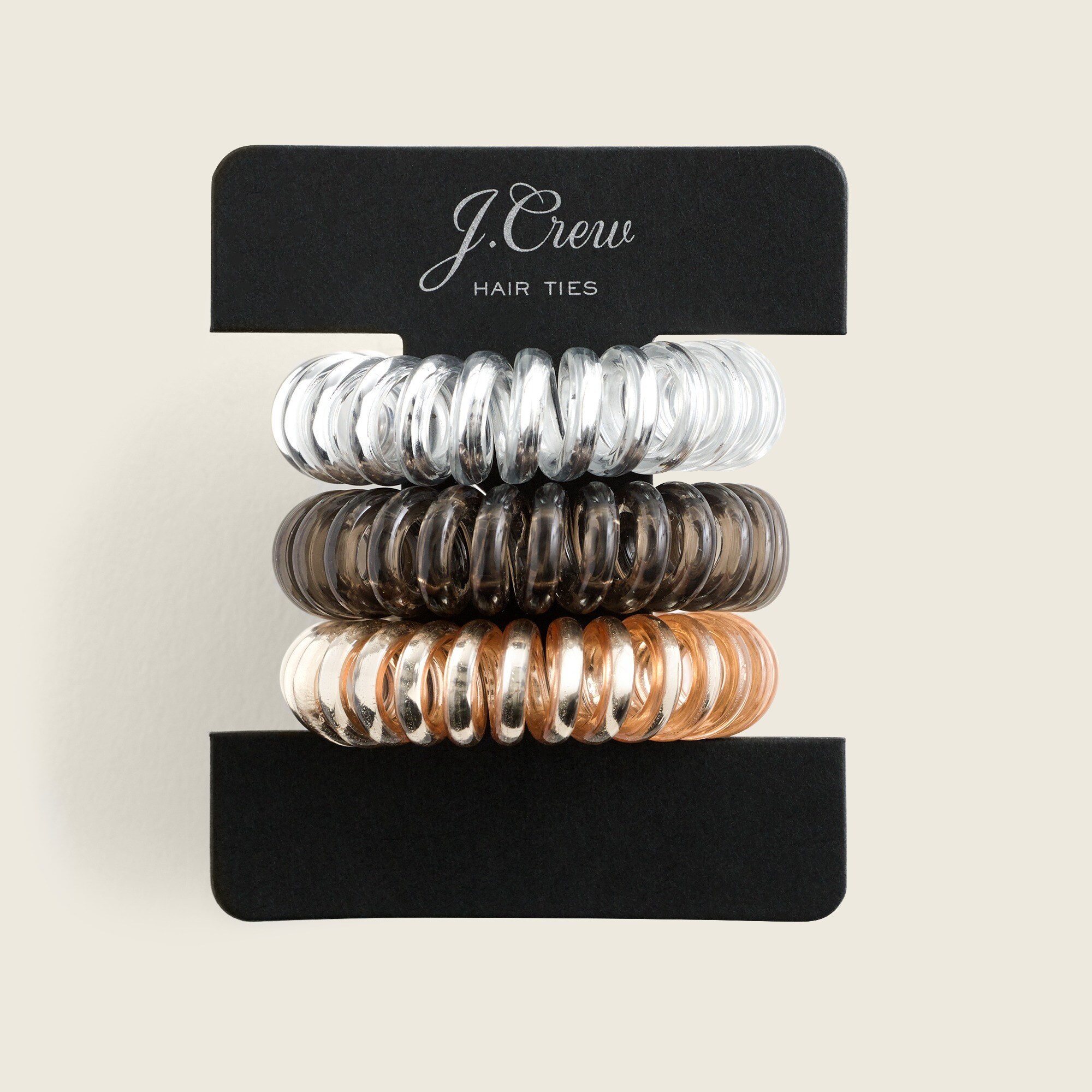 womens Spiral hair ties three-pack