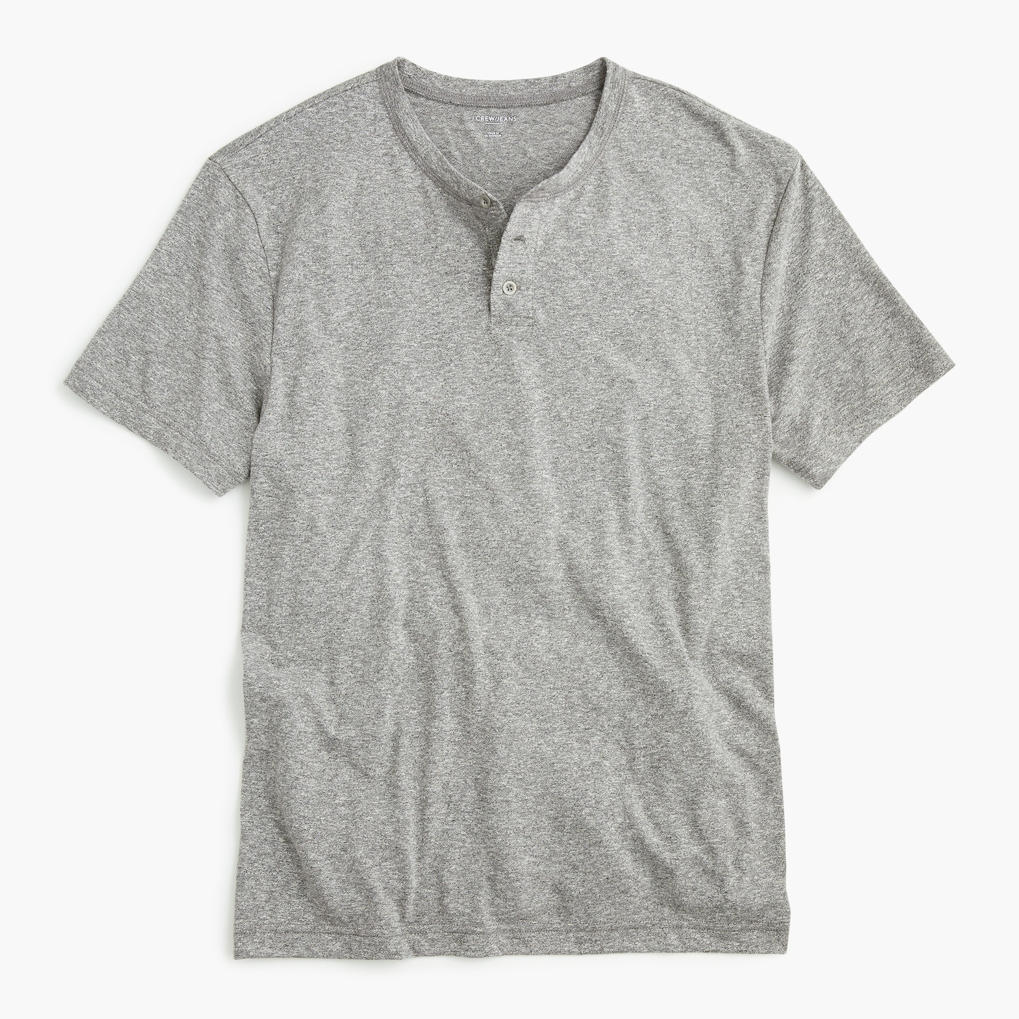 men's tall triblend short-sleeved henley - men's knits