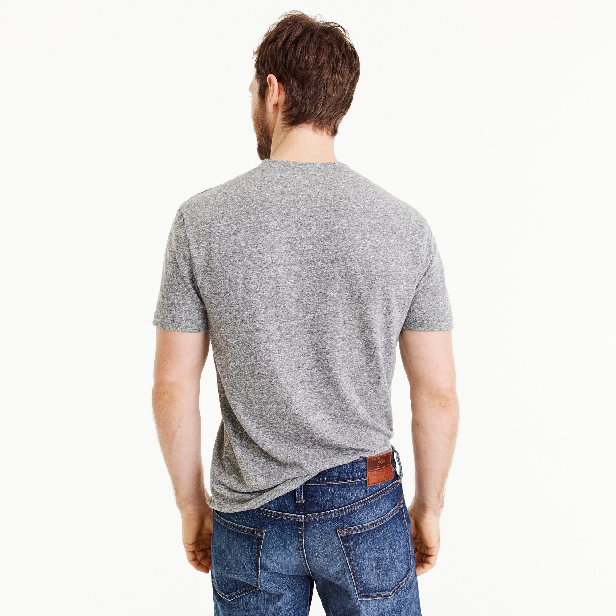 Tall triblend short-sleeve henley