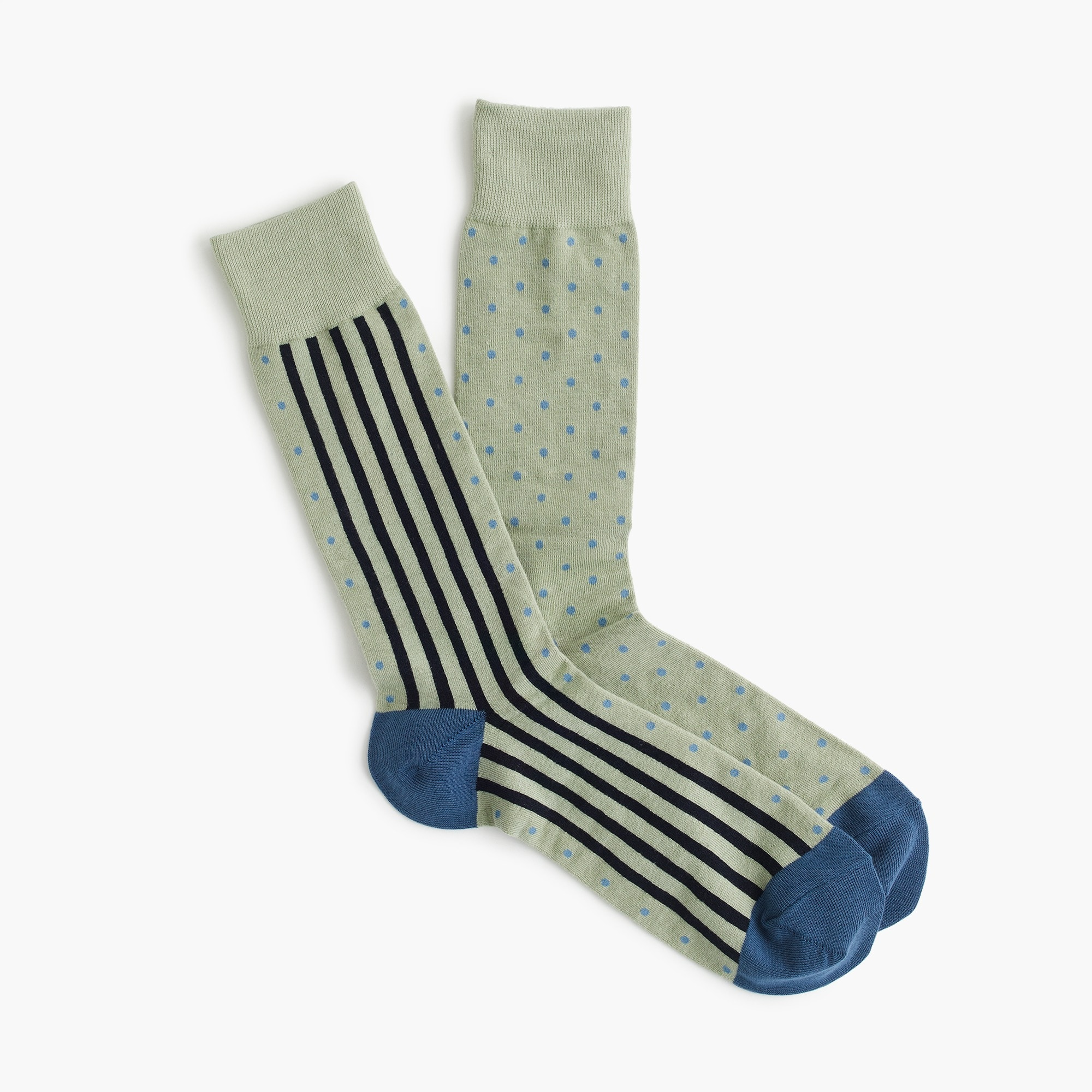 mens Blue striped dot print socks