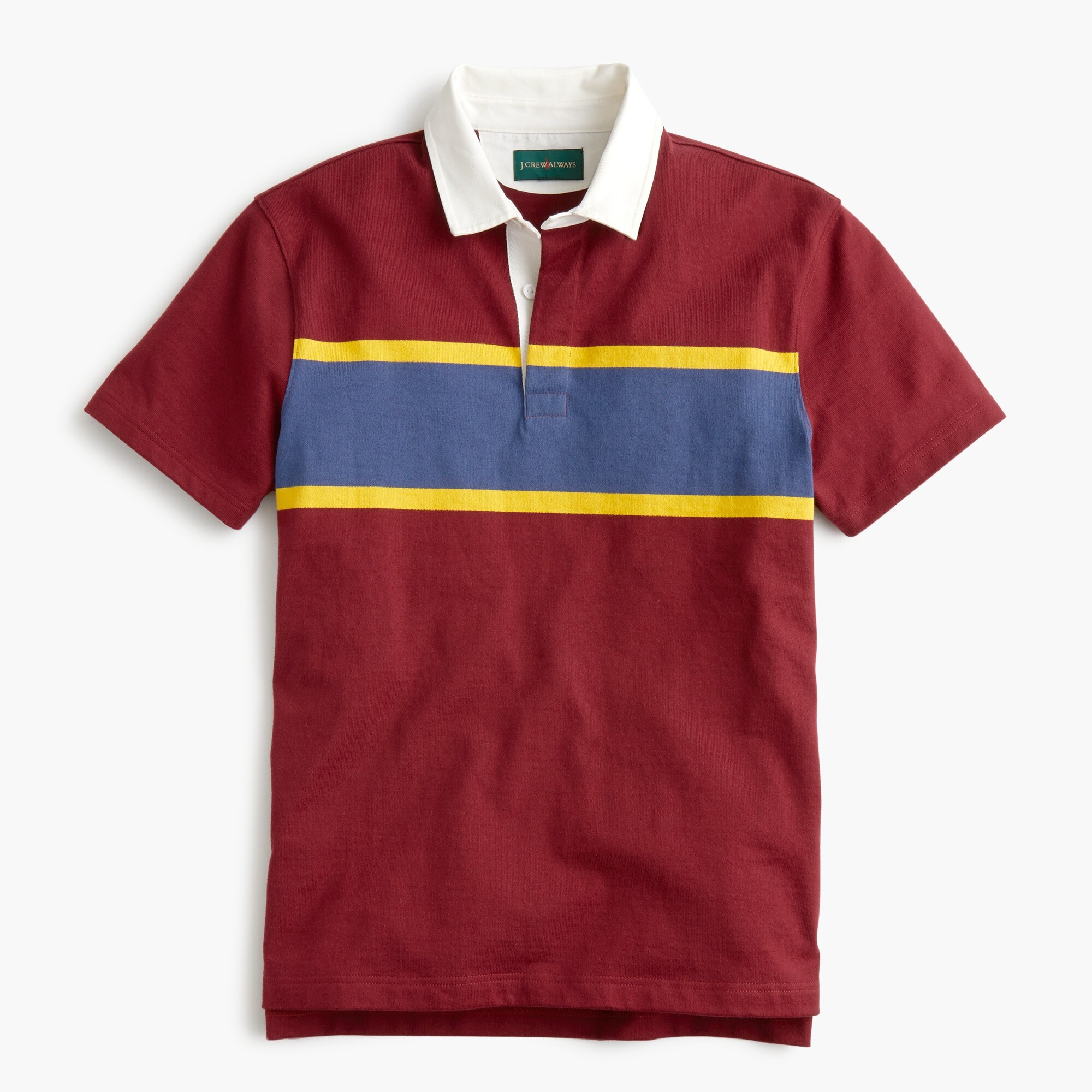 Image 3 for Tall short-sleeve 1984 rugby shirt in red