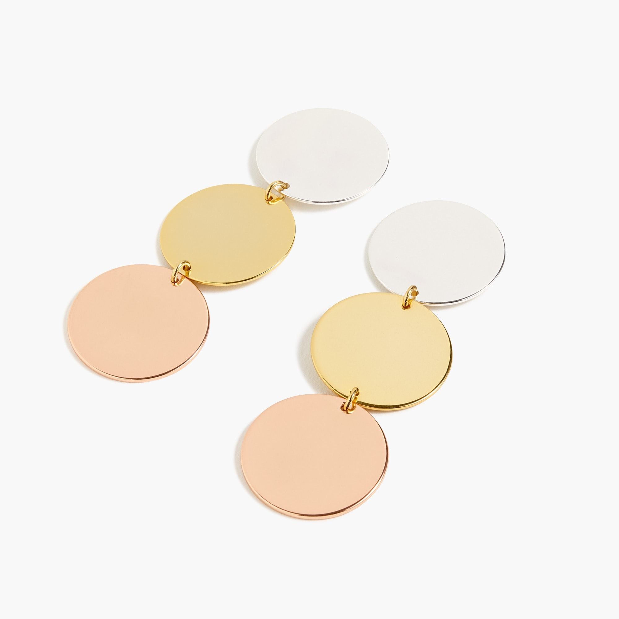 womens Disc drop earrings