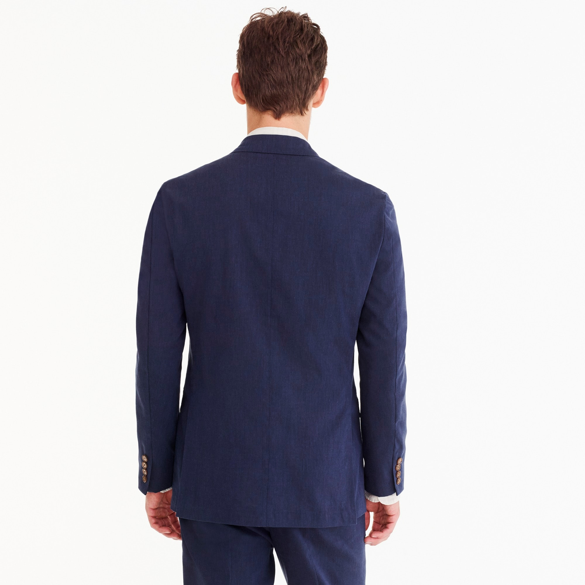 Image 3 for Ludlow Classic-fit unstructured suit jacket in stretch cotton
