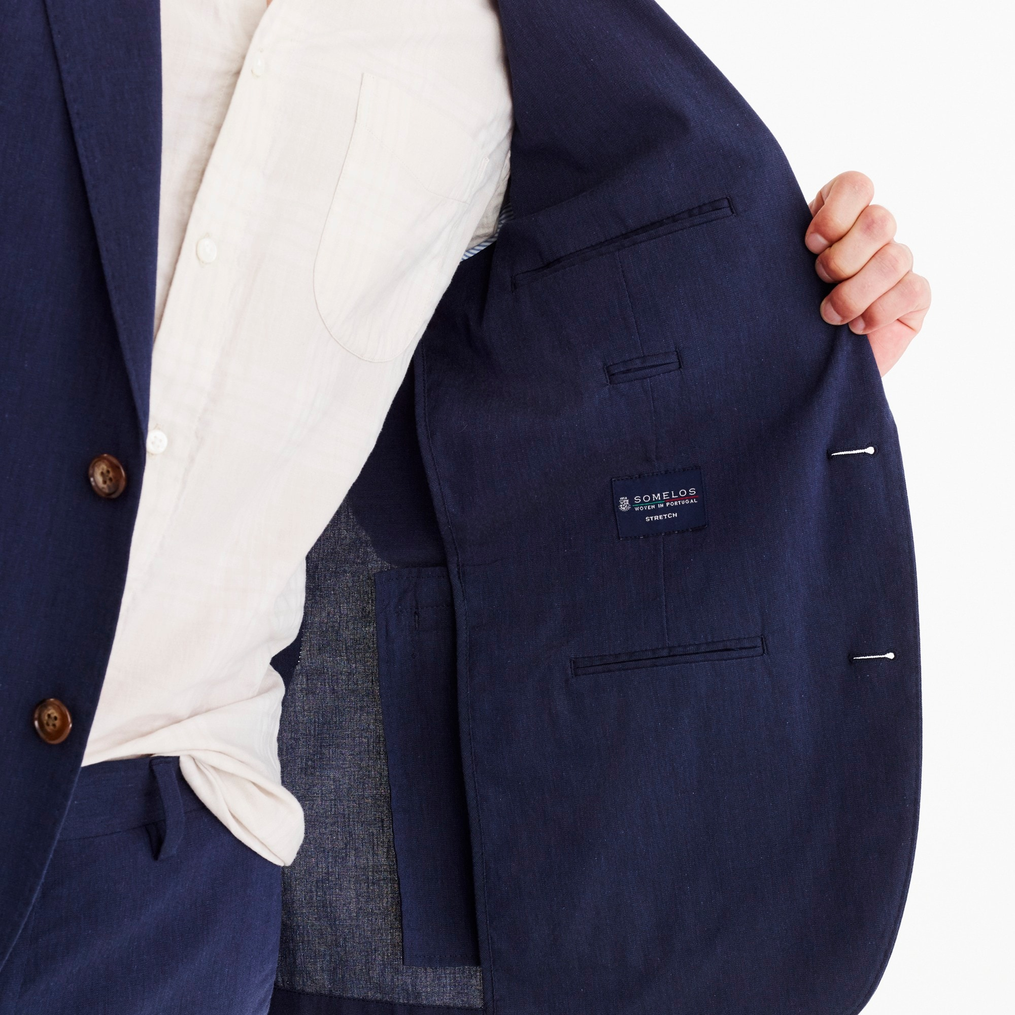Ludlow Classic-fit unstructured suit jacket in stretch cotton