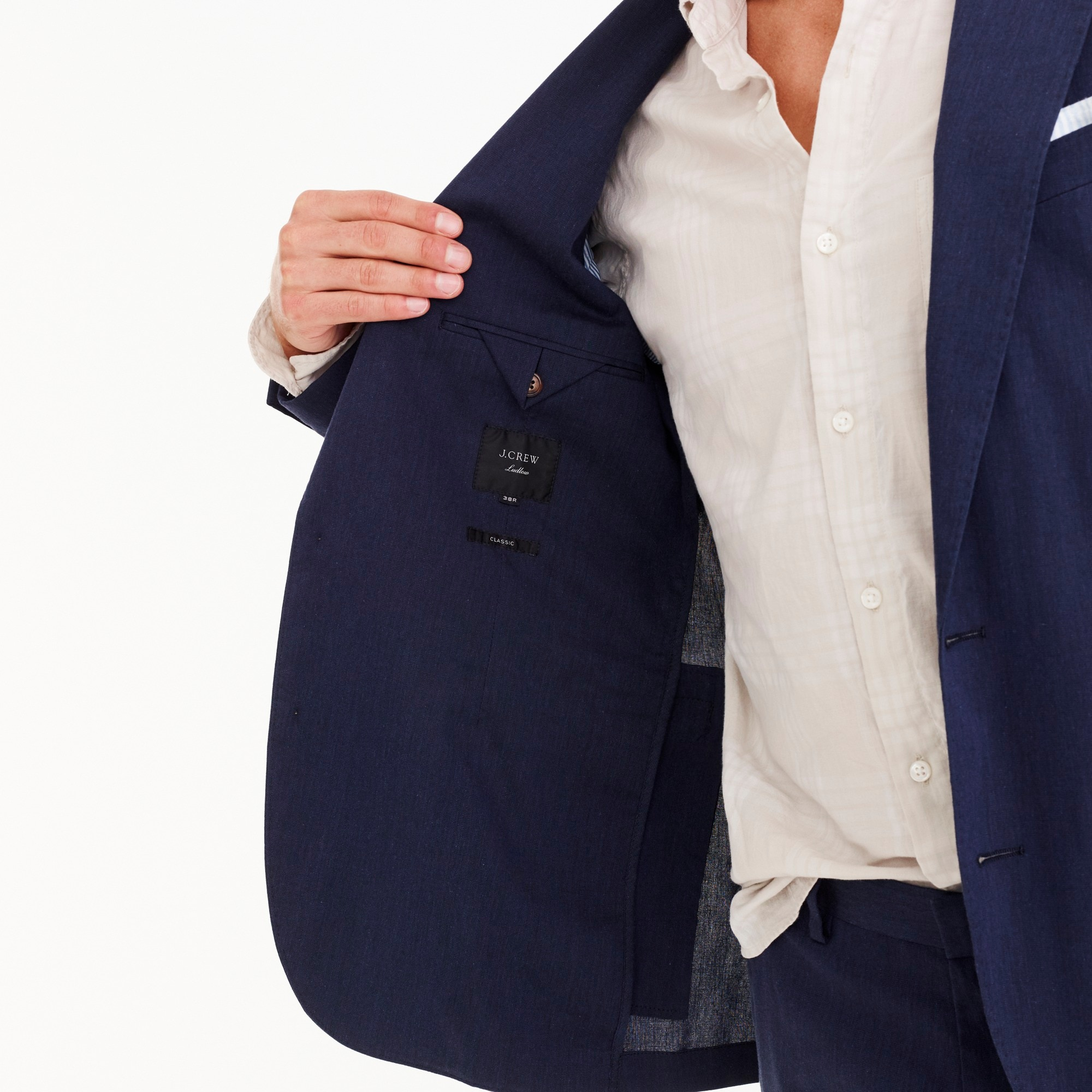Image 5 for Ludlow Classic-fit unstructured suit jacket in stretch cotton