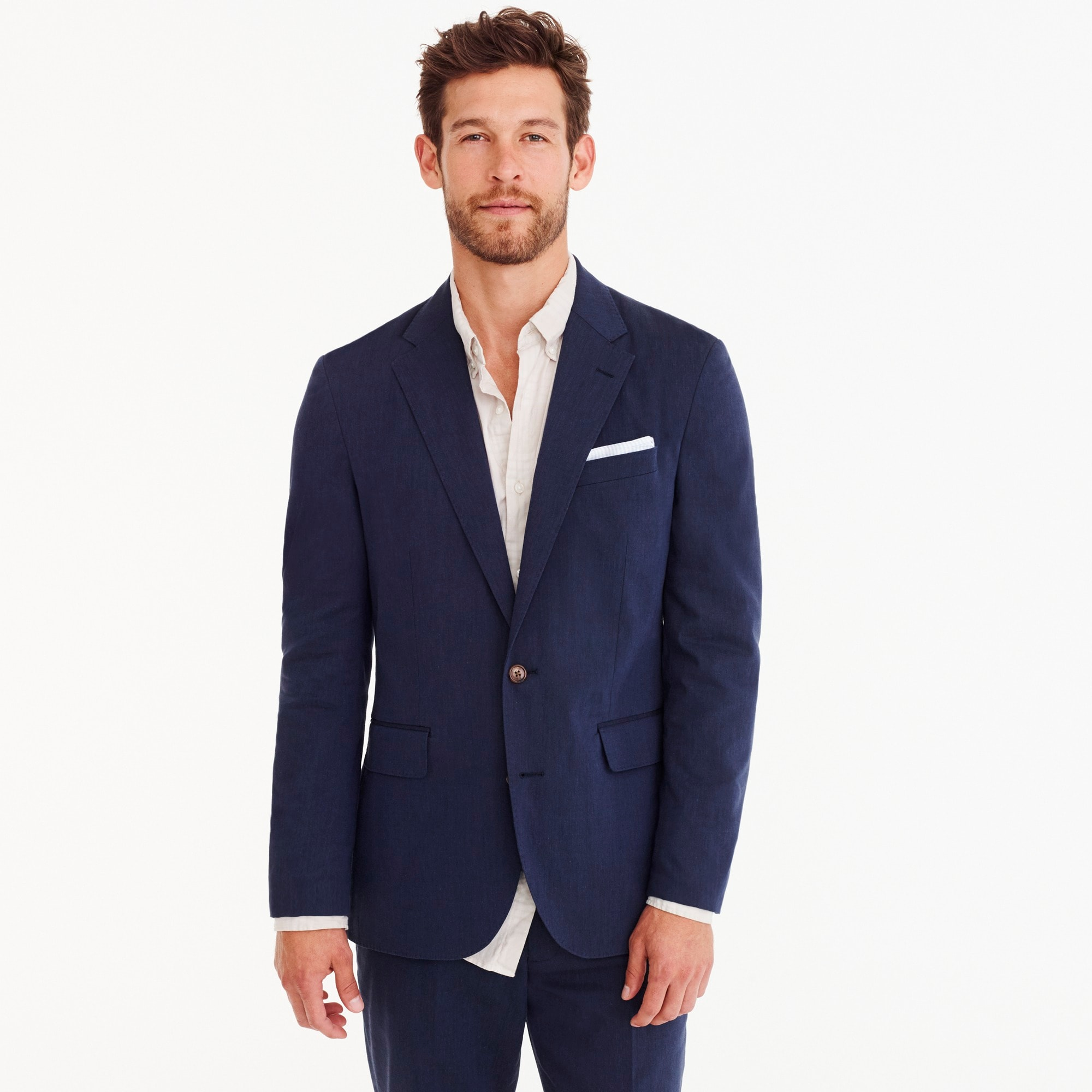 Image 1 for Ludlow Classic-fit unstructured suit jacket in stretch cotton