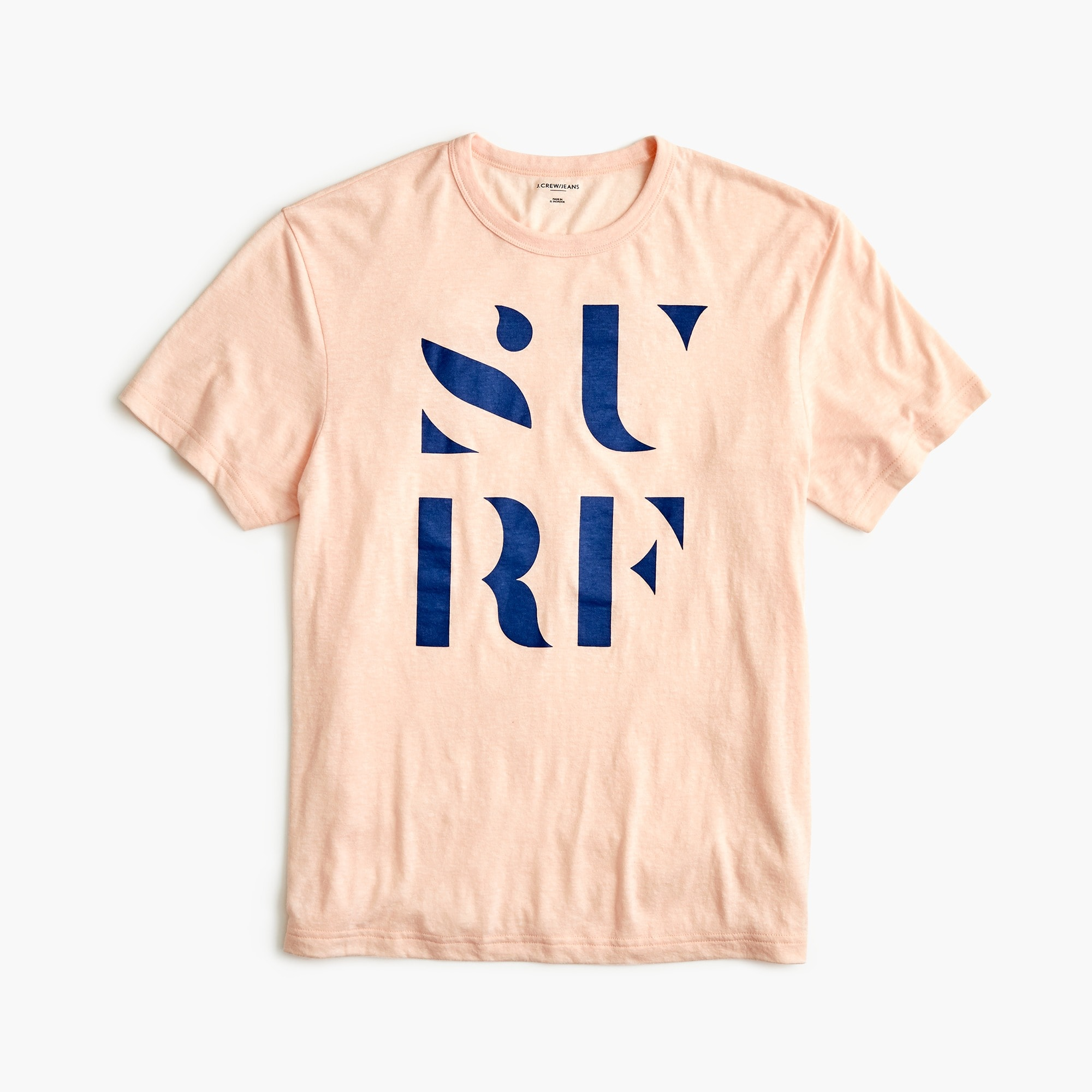 "Tall triblend T-shirt in ""Surf"" graphic"
