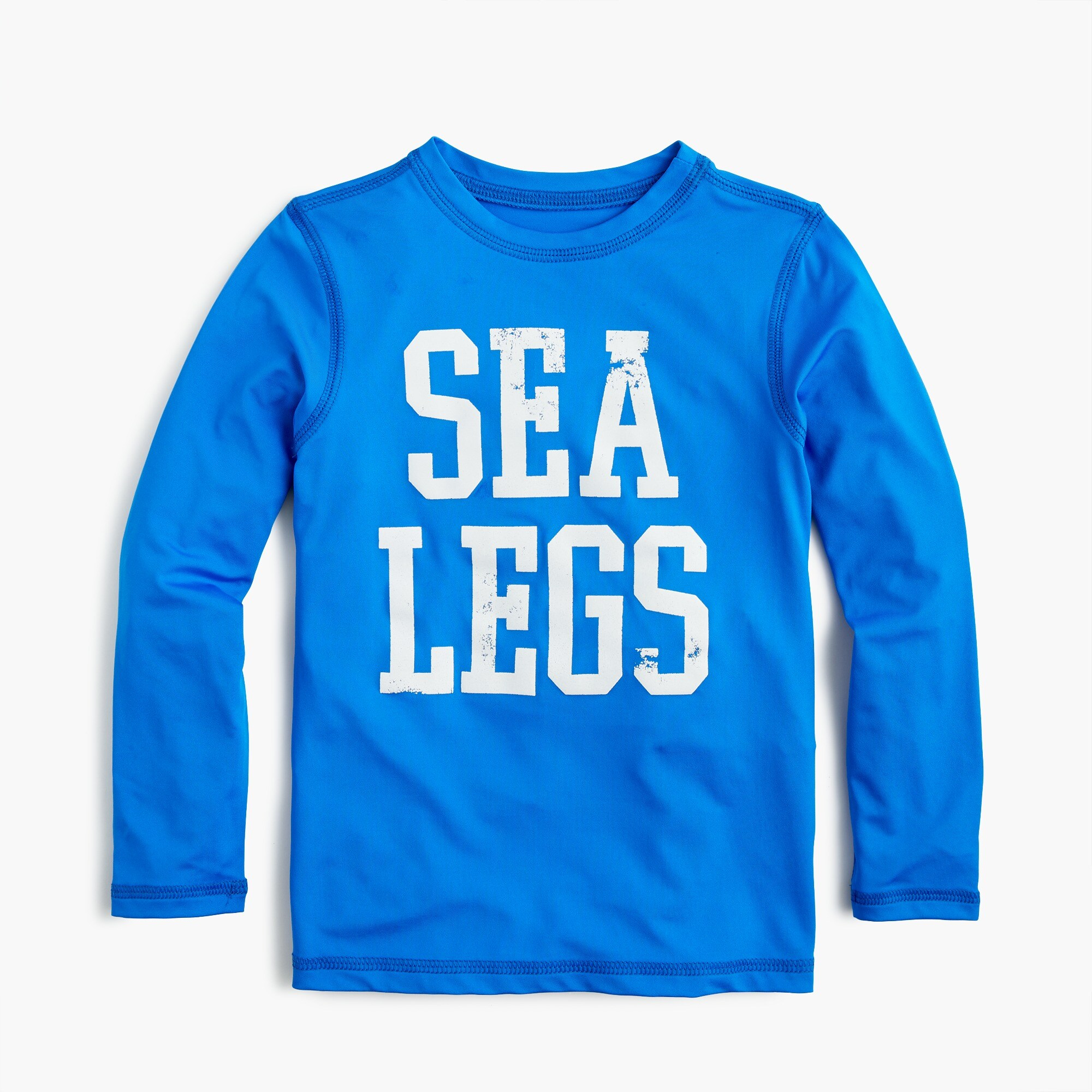 "Boys' ""sea legs"" long-sleeve rash guard"