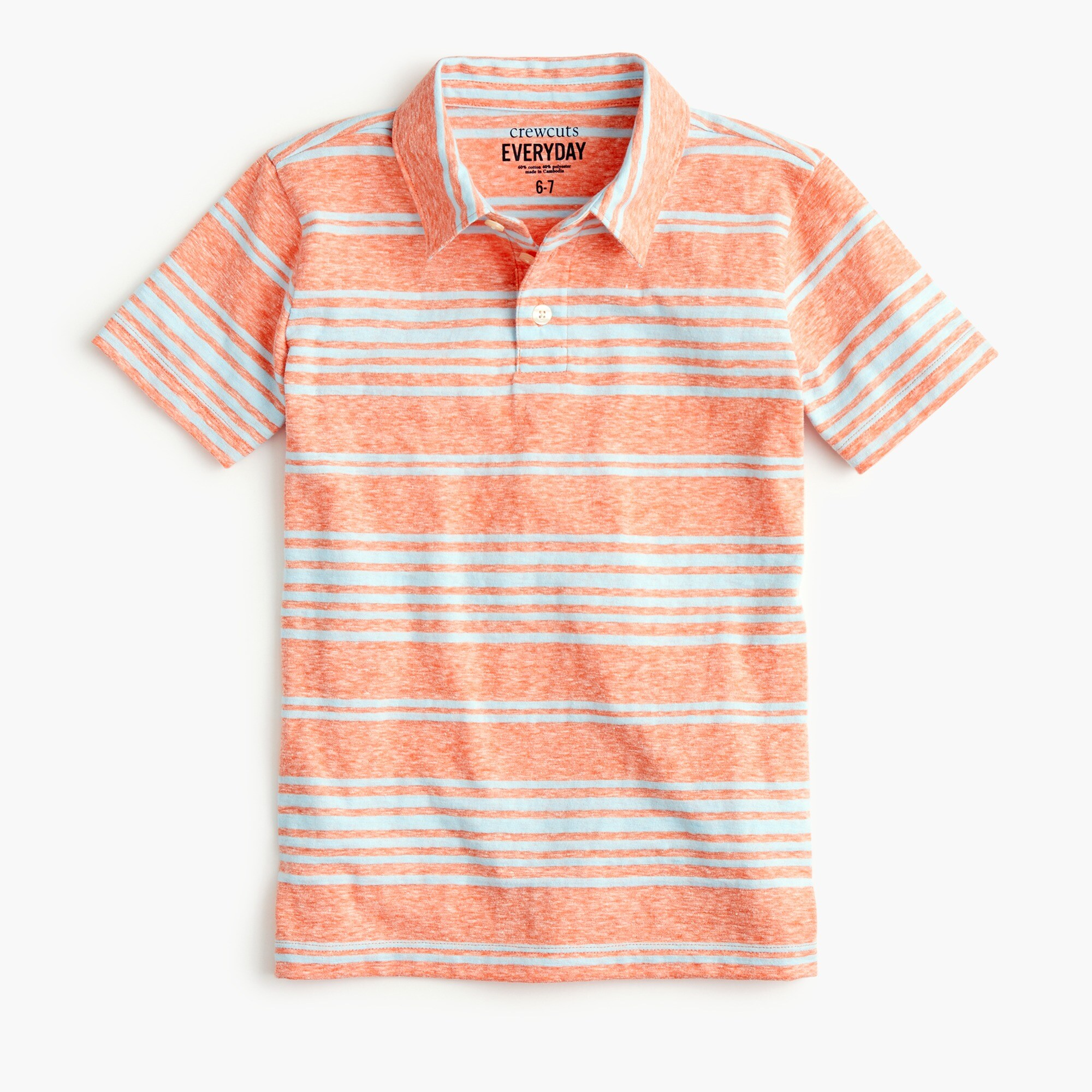 boys' striped polo shirt in the softest jersey - boys' tees