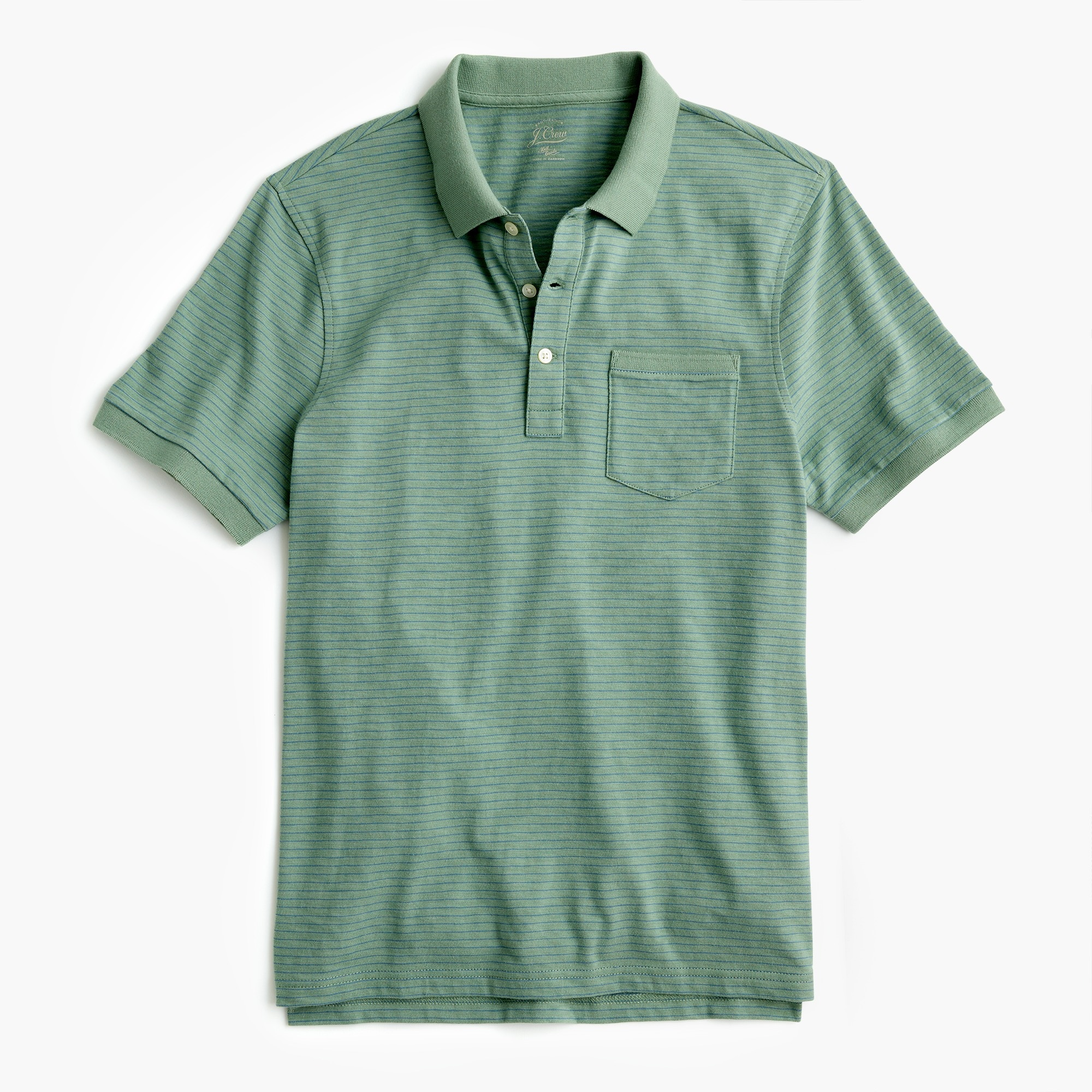 Slub cotton polo shirt in stripe