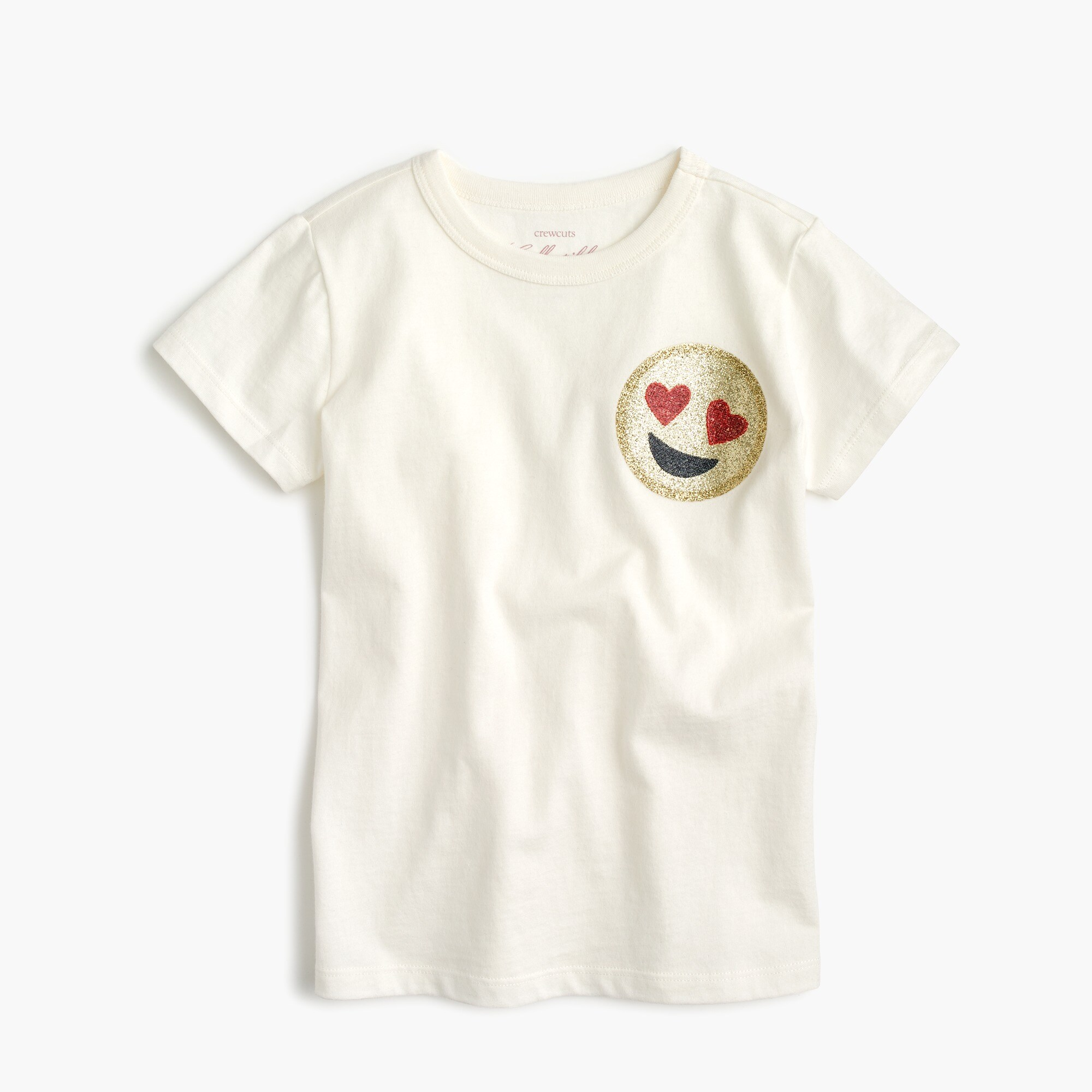 Girls' short-sleeve emoji T-shirt girl graphics shop c