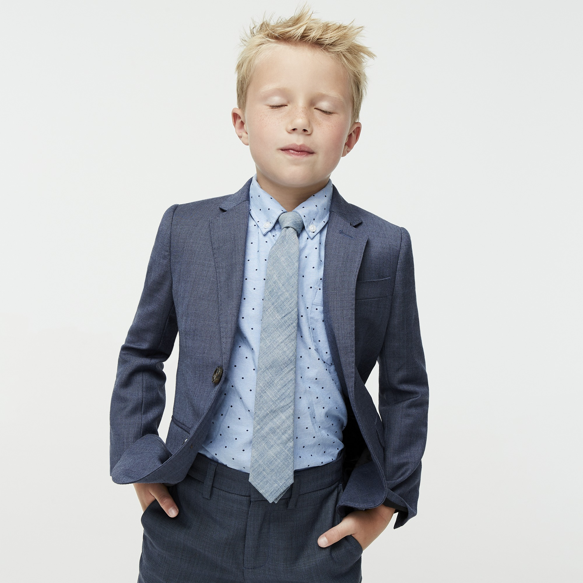 boys' ludlow suit jacket in stretch worsted wool - boys' suiting
